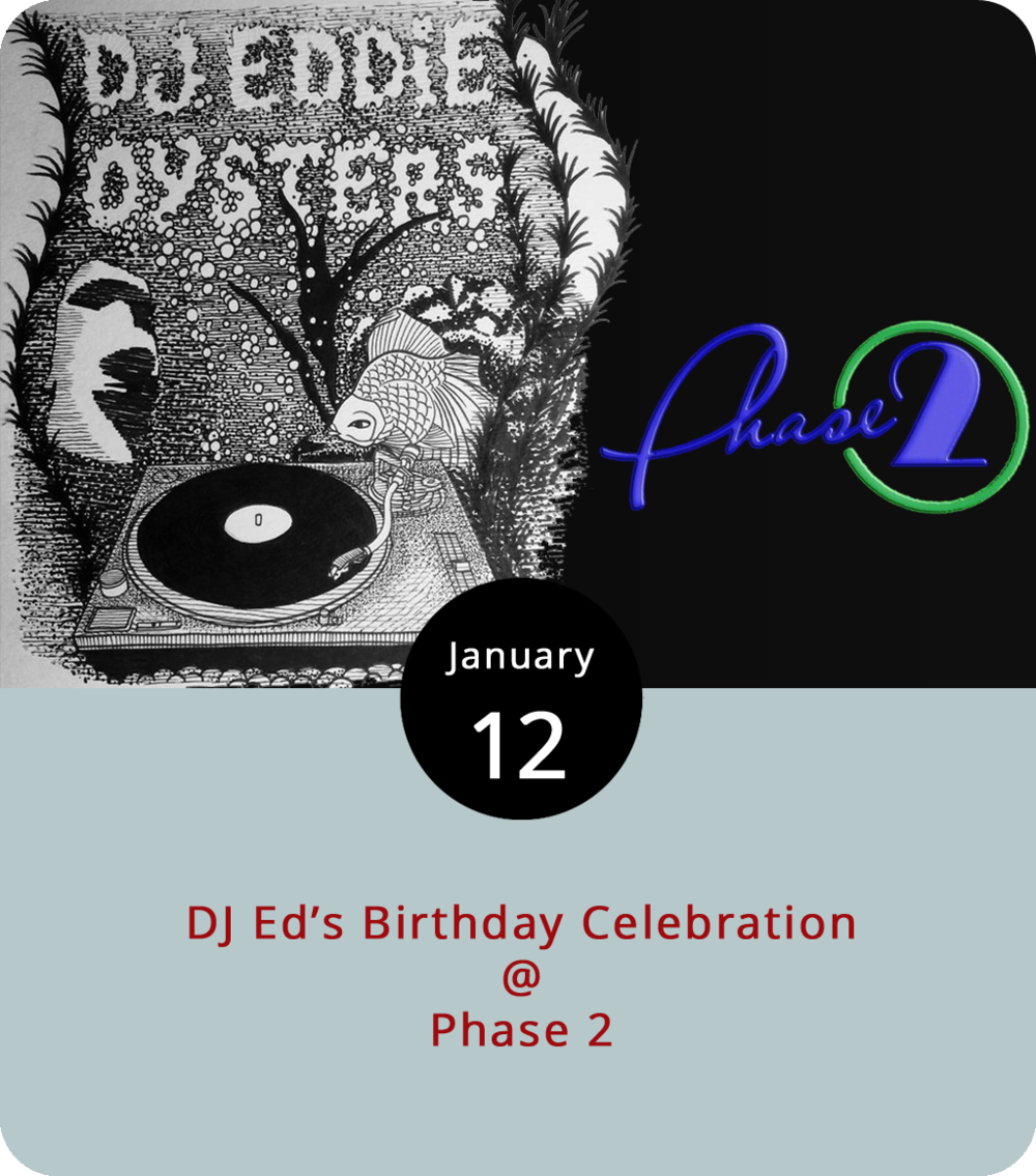 When a DJ decides to throw his or her own birthday, chances are it's not just about getting a few friends together for a drink or two. Lynchburg's own DJ Ed, who's hosted many a weekend night downtown at Dish, is celebrating his 30th tonight at a somewhat larger venue: Phase 2 (4009 Murray Pl.). Along with a stage stint by the birthday boy, the event will feature five other DJs: Benny V, MadMix, Purple Haze, Showtime, and Yagga. The show runs from 10 p.m. to 2 a.m. Ed, a native of Port-au-Prince, generally offers up a mix of hip hop, reggae, Afrobeat, and Top 40, so expect an eclectic mix. General admission tickets are $10 and VIP  tickets  are $25, which include a champagne toast and apps. For more information, click  here  or call (434) 535-6190.