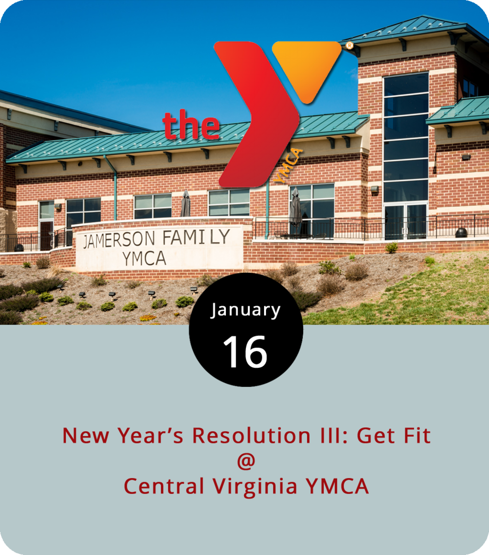 As New Year's Day 2018 begins to fade into just another memory of brunches past, it's all too tempting to set aside those first-of-the-year resolutions we may have made, like joining a gym, for example. So, we're offering a gentle nudge in the form of this tip: the YMCA of Central Virginia has a special deal going on right now. They'll waive the usual sign-up fee and only charge you one single dollar for the first month of membership. There are YMCAs in Lynchburg proper, including a downtown location (1315 Church St.) and a Y Express (3408 Old Forest Rd.), and a big one out in Wyndhurst (801 Wyndhurst Dr.). Depending on the location, there's swimming, basketball, and yoga, spinning, and zumba classes. A single membership will run you $46 per month, so $1 really is a deal. Click  here  or call (434) 847-5597 for more info.