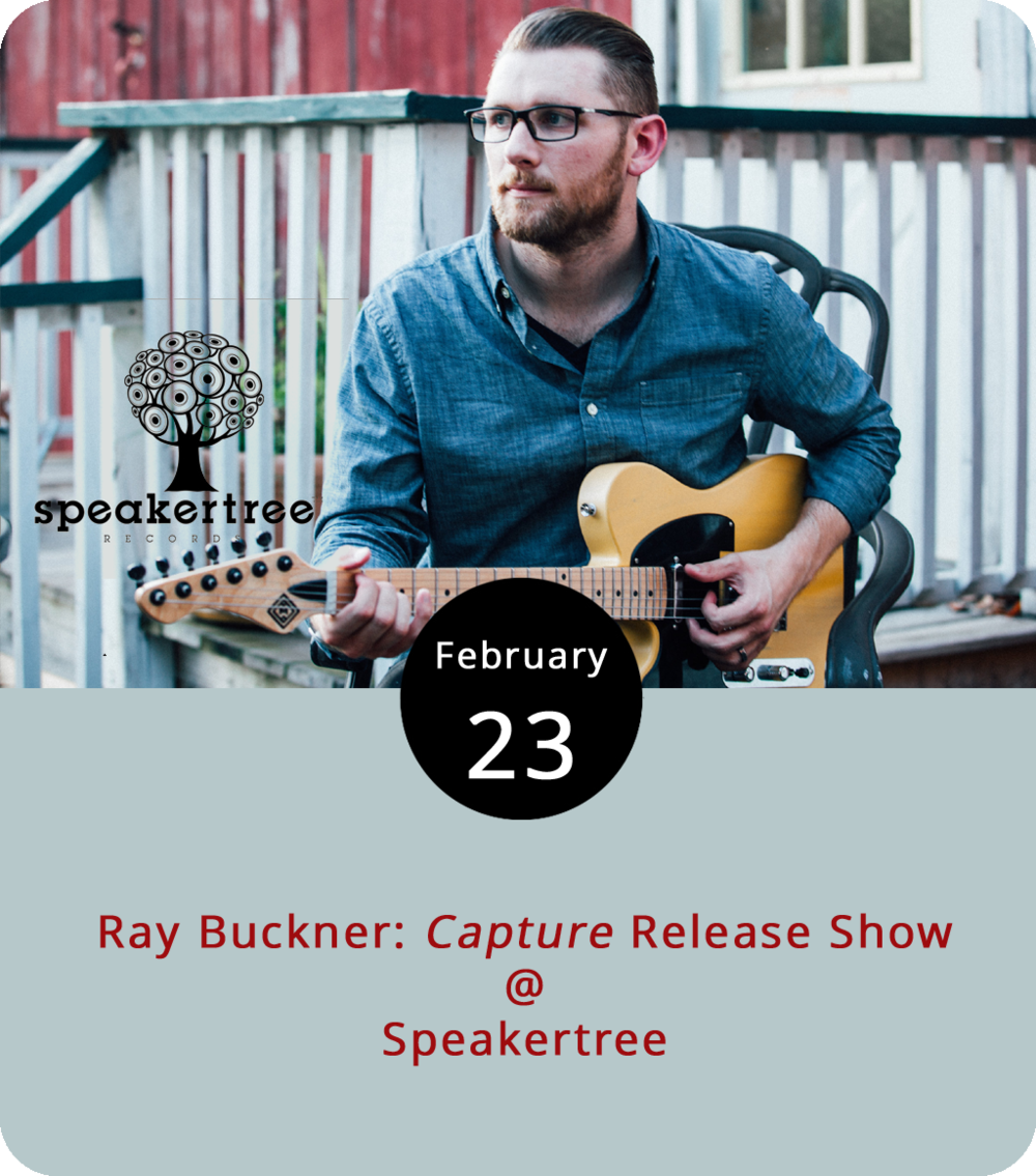 "We don't know if manifest destiny will have a role in the artistry of Lynchburg musician Ray Buckner, but he does have his own ""Westward Expansion."" That's the name of a recent single by the singer-songwriter from his album new album  Capture . He marks its release this evening at Speakertree (901 Jefferson St,) with fellow Lynchburg artists  Paper Compass  and Chad Lowry. The cover is $5, and  Capture  will be on sale for $5. Speakertree has changed hands a few times and locations at least once, but it has found a home in the Riverviews Artspace building, where they've been hosting acoustic gigs. Click  here  for more info or call (434) 485-8262."