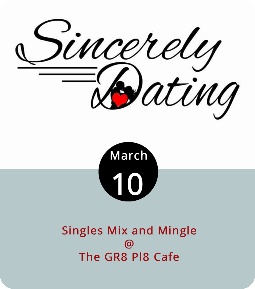 Even though we're closer to St. Patrick's than Valentine's Day, The Gr8 Pl8 Cafe (1415 Kemper St.) wants to play matchmaker tonight. Here's how it works: Singles mix and mingle, but if you're interested in someone, you can submit the info to Gr8 Pl8 and event sponsor Sincerely Dating will take the info and see who matches up. They'll return with offers to exchange contact info for anyone who thinks Cupid's arrow might have struck. The event includes games and prize drawings. Tickets are $15 if ordered online or $20 in person. For more information, click  here .