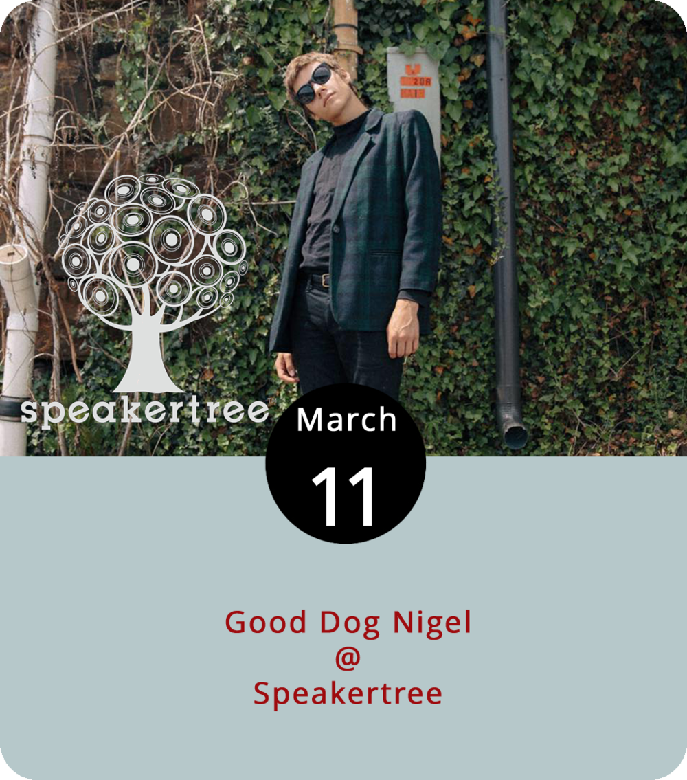 Lynchburg's  Good Dog Nigel  is heading out of town soon to start touring, a journey the singer-songwriter expects to take him to Brooklyn, Philadelphia, Chicago and other places north and west. But he won't get very far without gas or snacks, for that matter. So he's hoping to get gone with a little help from his friends today at Speakertree (901 Jefferson St.). He'll be joined today by L.A. Dies and Layhe, both Lynchburg acts. Cover is $5 for the 7 p.m. show. For more information, click  here  or call (434) 485-8262.
