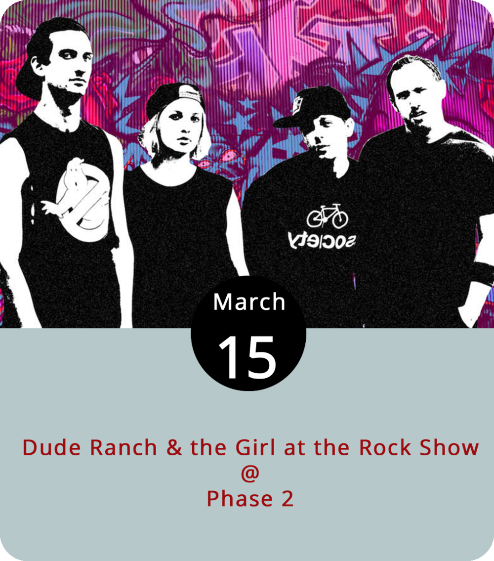 "Even the youngest among us at LynchburgDoes feels a little old writing about a Blink-182 tribute band, but the thing really does exist, so we feel compelled to tell you about it. Tonight at Phase 2 (4009 Murray Pl.), Brooklyn-based  Dude Ranch & the Girl at the Rock Show  (aka four ""Blink fanatics"") will perform the best of the Blinkster songbook. Tickets are $10. Doors open at 7 p.m. for the 8 p.m. show. For more information, click  here  or call (434) 846-3206."