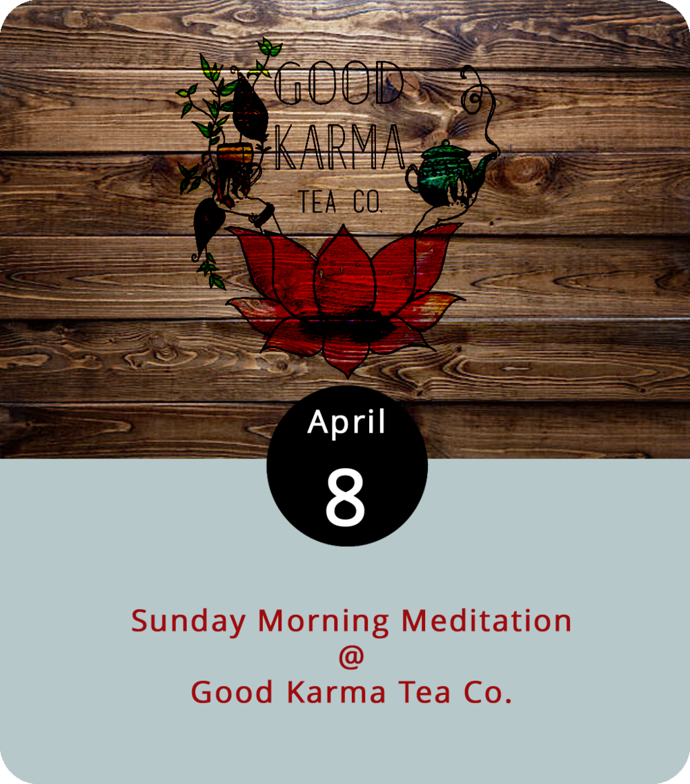 Take it easy this Sunday morning. Just sit, relax, and let your consciousness go wherever it will. That's the general attitude for the new weekly meditation group beginning today at  Good Karma Tea Co.  (174 Norfolk Ave.). The Tea Co. will host meditations guided by Paul Webb of  Compassionate Warrior Yoga  from 9-9:45 a.m. starting today and running for a least a couple of weeks He guides yoga and meditation classes in a variety of settings around Lynchburg, including at James River Yoga. For more information, click  here or call (434) 515-2058.