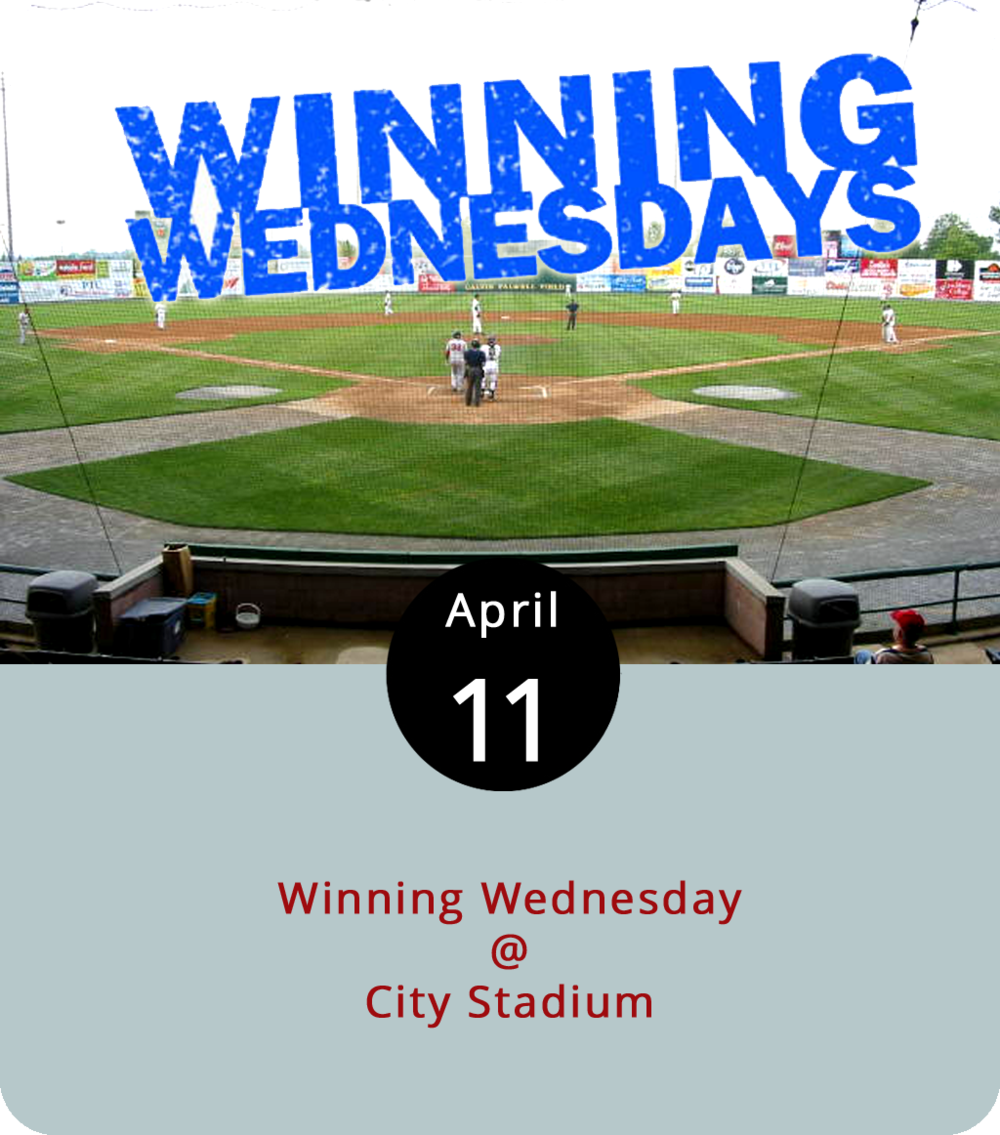 One of the many hacks to being a successful baseball fan in Lynchburg is Winning Wednesday. Here's how it works: Buy a ticket to tonight's Hillcats home game at City Stadium (3180 Fort Ave.) for $10 and receive a free ticket to next Wednesday's game. Use that ticket at the next Wednesday home game, and get a free ticket to the following Wednesday's home game. We're not great at math, but we're pretty sure that's a lot of tickets for just ten bucks. This evening the Hillcats go up against the Buies Creek Astros at 6:30 p.m. Next Wednesday they're home for a matchup with the Frederick Keys. And on the 25th they play the Winston-Salem Dash at home. For a season schedule, click  here  or call (434) 528-1144 for more information.