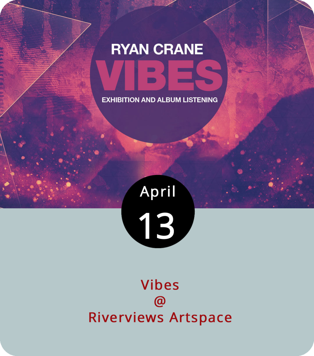 "Ryan Crane's a Lynchburg native who's adept at abstract art and electronic dance music. His latest project, ""Vibes,"" combines the two in ways that sound rather intriguing. He's setting up his pop-up, pop-art exhibit at Riverviews Artspace (901 Jefferson Street) this evening for a show that will feature bass-driven deep house music by DJs JXN and Tony Day. The music and art shindig kicks off at 6 and goes until 10 p.m. It's part of Riverviews' Emerging Artist Series. Click  here  for more info or call (434) 847-7277."