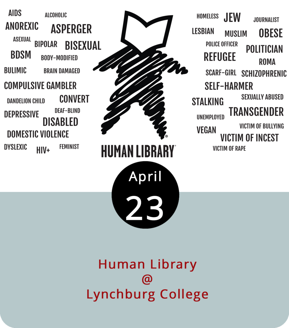 Human Libraries began as a way to challenge stereotypes through one-on-one, 15 minute open dialogues. As they host one tonight, community members at Lynchburg College (1501 Lakeside Drive) will address several different topics, including sexuality and mental health in order to help people understand each other. The event will be held at 3 p.m. on Monday and Tuesday. More information can be found  here .