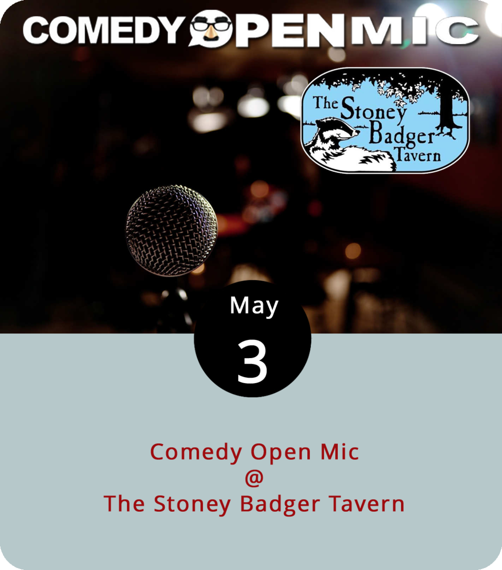 "As Steve Martin once said, Comedy is not pretty. We'd like to amend that to say, comedy isn't always pretty… The folks at the Stoney Badger Tavern (3009 Old Forest Rd.) are going to find out one way or another this evening as they try something new: a Thursday night open mic for aspiring comedians. You gotta be at least 21 to perform and, as the Badger points out, it'll help to be ""able to perform in a smoking venue without keeling over."" You can sign up to perform  here . Each performer will be given seven minutes of stage time, unless the audience wants more. There's no cover. The jokes start at 9 p.m. and keep going until they run out. Call (434) 384-3004 for more info."