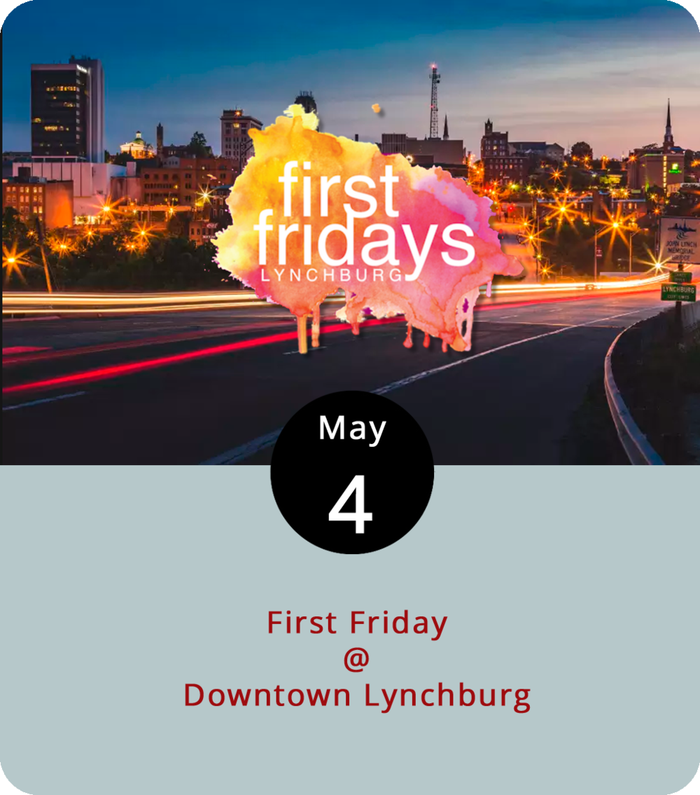 "Usually, we like to start off First Fridays at Riverviews Artspace (901 Jefferson St.), where they reliably host a First Friday art exhibit opening in their Craddock-Terry Gallery at the start of each month. In fact, this evening they'll be celebrating the opening of ""The Exceptional Larry Bassett Collection,"" which brings together eclectic works from the actual collection of the actual Larry Bassett. That's from 5:30 to 8 p.m. Meanwhile, up a little ways from the river at the 5th Street Grind (710 5th St.), they'll be hosting an exhibit by Nugent Cos, a VCU-trained abstract artist who studied drawing at the Beaux Arts de Paris and now calls the Blue Ridge Mountains area home. The White Hart Café (1208 Main St.) has an open mic of the musical sort scheduled from 7 to 9 p.m. And the Academy Center of the Arts (600 Main St.) will host a reception for two exhibits from 5 to 8 p.m.: Sarah Raessler in the Up Front Gallery, and Jill Jensen and Jill Kerttula in the Ann White Academy Gallery. For information on First Friday events, click  here ."