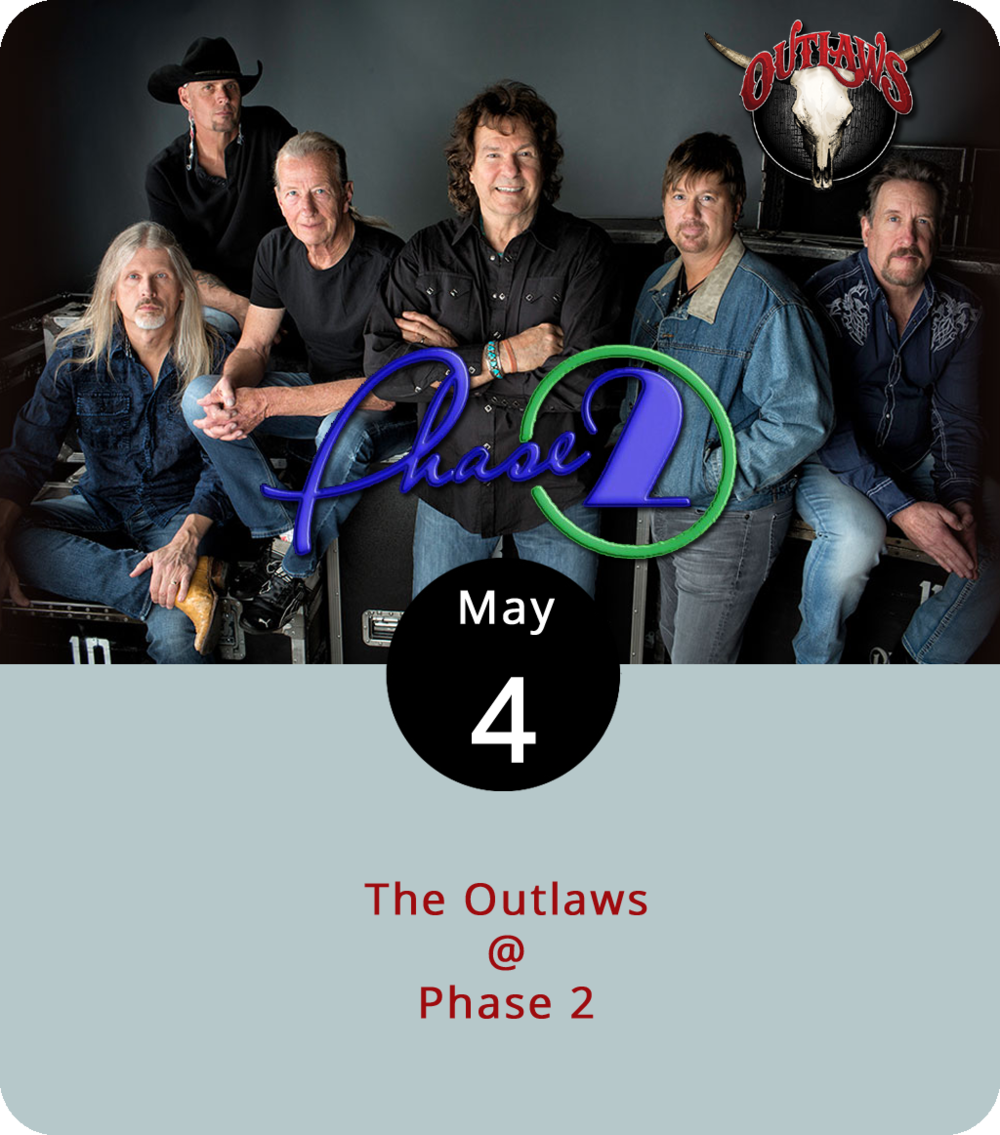 "It's been over fifty years since the Outlaws first emerged out of Tampa, Florida, and 43 years since they hit Southern rock pay dirt with the song ""There Goes Another Love Song."" The band have been through a number of changes over the decades, but they still feature a dual lead guitar line-up and they still specialize in Southern rock. They come to town tonight to play Phase 2 (4409 Murray Pl.). It's a seated event, and an 18-plus show, with doors at 8 p.m. Tickets start at $35 and can be found  here . Call (434) 846-3206 for more info."