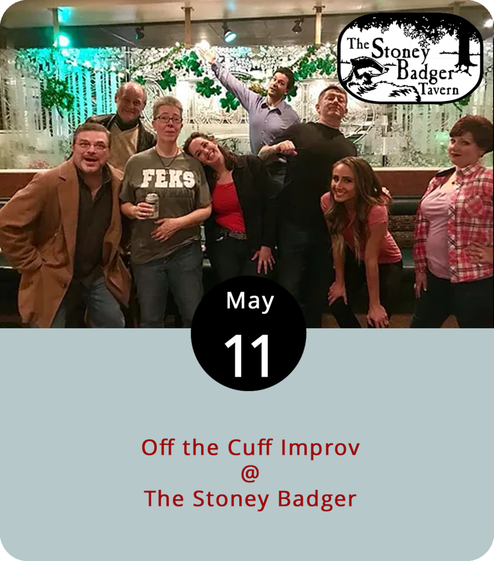 "While many comedic performers hone their routines into repeatable renditions, others make it up as they go along.  Off the Cuff Improv,  a local comedy troupe, is one of the latter. Unlike stand-up, which centers around jokes that are to some extent ""written,"" improv happens in the moment and relies on a performer's quickness of wit and dexterity of limb. The Off the Cuff folks will take crowd suggestions and spin them into something resembling a coherent and, hopefully, laugh-inducing narrative. They'll do so tonight from 9-11 p.m. on the non-smoking side of the Stoney Badger (3009 Old Forest Rd.). Click  here  or call (434) 384-3004 for more info."