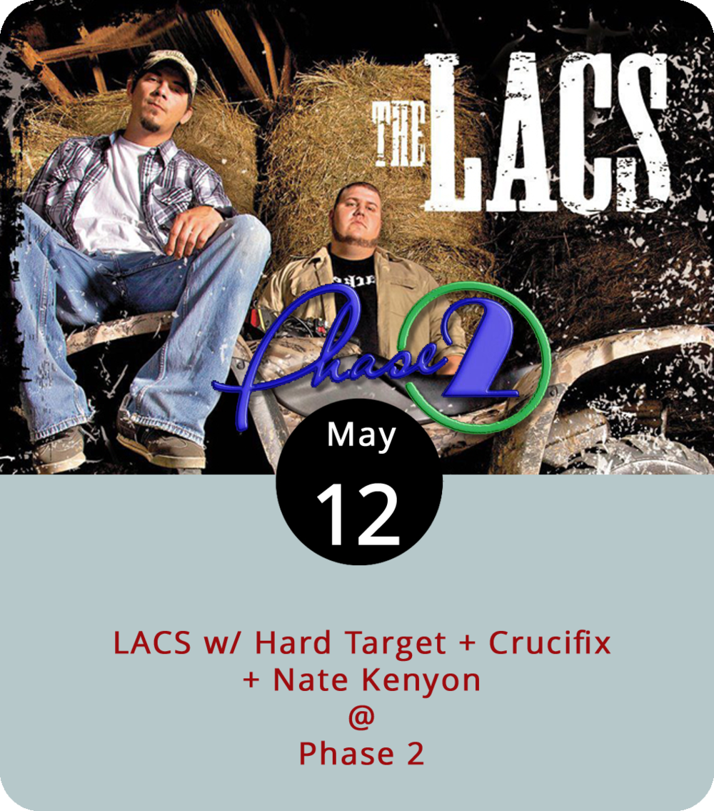 "It shouldn't be a surprise that a band called  LACS , short for ""the Loud Ass Crackers"" call their music dirt rock and feature a pickup truck prominently in their marketing materials. The band, who perform with Hard Target, Crucifix, and Nate Kenyon on a bill at Phase 2 (4009 Murray Pl.), should sell out the club, as they have in previous years, according to the venue. Doors open at 7 p.m. and the show starts at 8 p.m. General admission tickets are $20. For more information, click  here  or call (434) 846-3206."