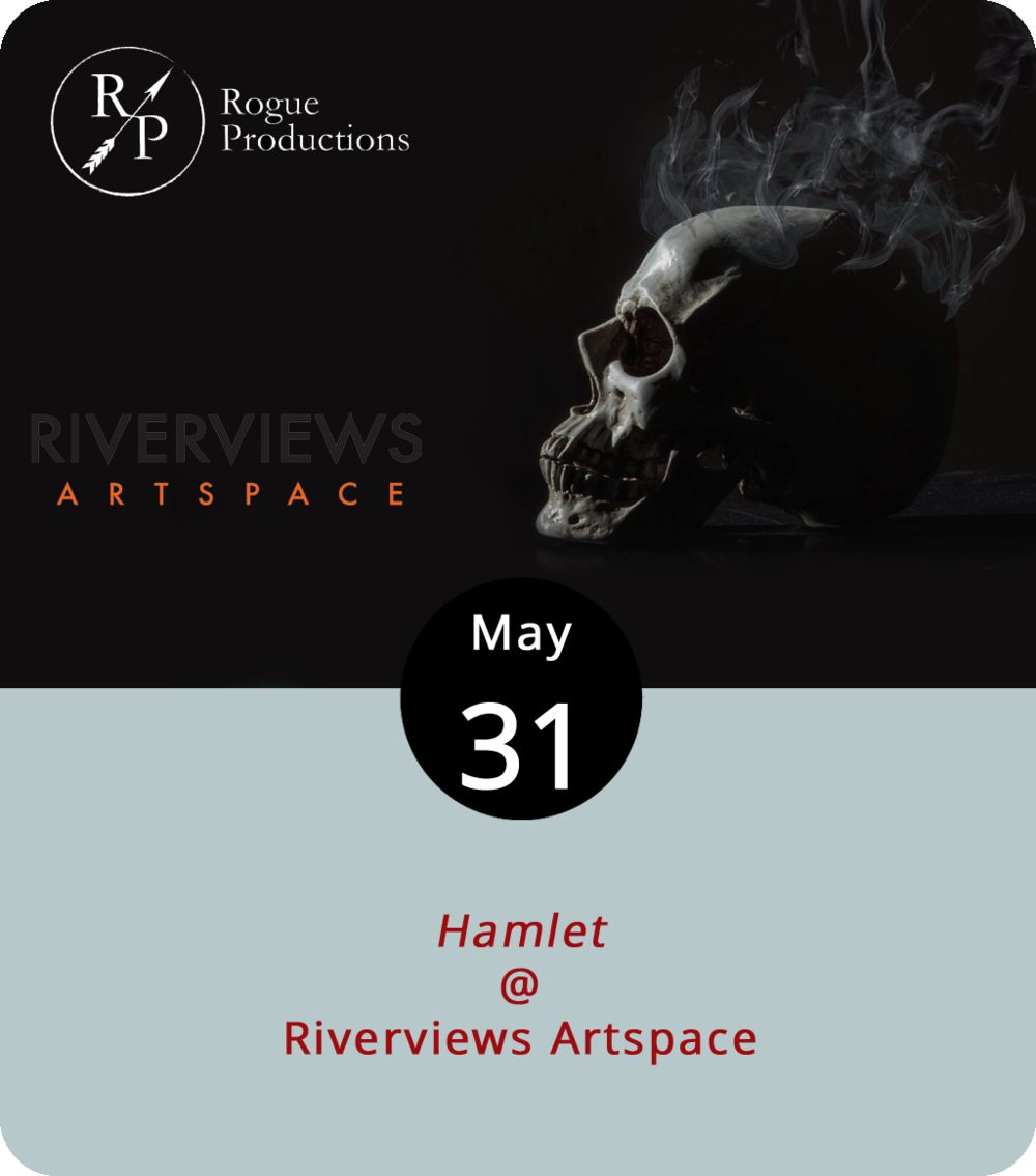 In its original form, the tragedy of  Hamlet  revolves around some pretty serious royal intrigue in the Danish castle of Elsinore circa the Middle Ages (we'll say somewhere between 1300 and 1500 A.D.). When the ghost of young Prince Hamlet's recently departed father stops by the castle to urge his son to seek revenge for his murder, things get a wee bit complicated, mostly because Hamlet's mom has just married his uncle Claudius, who also happens to be the murderer. Ah, to be or not to be in the Middle Ages; that is the question posed by Rogue Productions' staging of  Hamlet  at Riverviews Artspace (901 Jefferson St.). The local troupe has shifted the action to post-WWI Denmark, where the pensive prince must wrestle with implications of regicide in the midst of a looming threat from a roving Norwegian gang. Could work. Performances, which got underway last night, continue tonight, tomorrow, and Sunday at 7:30 p.m., as well as next Thursday, Saturday, and Sunday at the same time. Tickets are $15; click  here  or call (434) 847-7277.