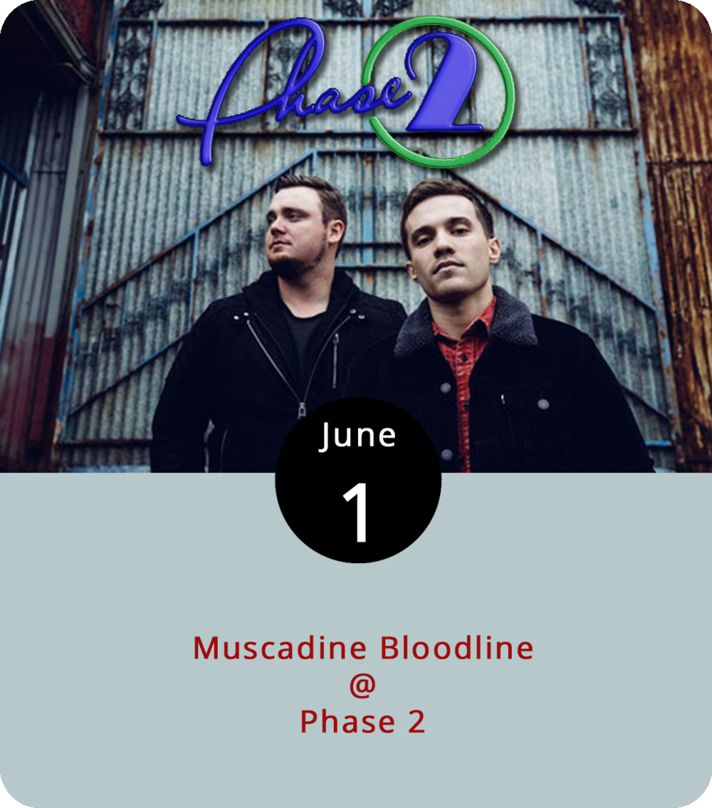 "The country duo  Muscadine Bloodline says they're ""unapologetically Alabama."" We're not sure exactly what that means, but we assume they don't need Neil Young around, anyhow. Rolling Stone magazine named the band as a country artist to watch last year, and they're scheduled to perform on the Breakout Stage at the CMA (Country Music Association) Music Festival next week. Find their recently released single  Can't Tell You No  from the EP ""Movin On""  here . General admission tickets are $14 and can be found  here ."