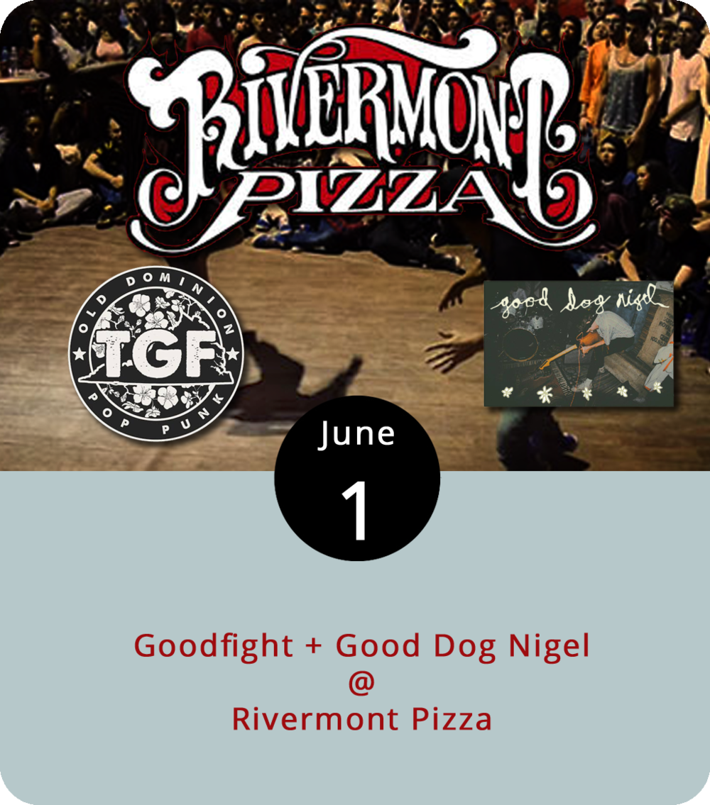 "Goodfight's songwriter, frontman, and guitarist Andrew Forman moved to Brooklyn, New York all the way from Florida. He ended up writing about home. Tonight, Goodfight comes to Rivermont Pizza (2496 Rivermont Ave.) to perform from their debut album "" Florida Room "" along with the local act  Good Dog Nigel . Live music at RP generally starts about 11 p.m., just about the time dinner service ends. There isn't a cover listed, but the pizza shop usually charges $3 for live music. For more info and updates, click  here ."