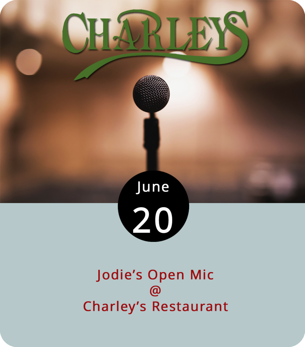 A diligent musician in Lynchburg can usually find an open mic somewhere if they feel the need to unburden their beats or release some rhythm. Tonight, the singer searching for a stage or the patron hoping for a performance can check out Jodie's Open Mic, hosted by Jodie Davis at Charley's Restaurant (707 Graves Mill Rd.). The open mic is held every Wednesday from 7-10 p.m. For more information, click   here    or call (434) 237-5988.