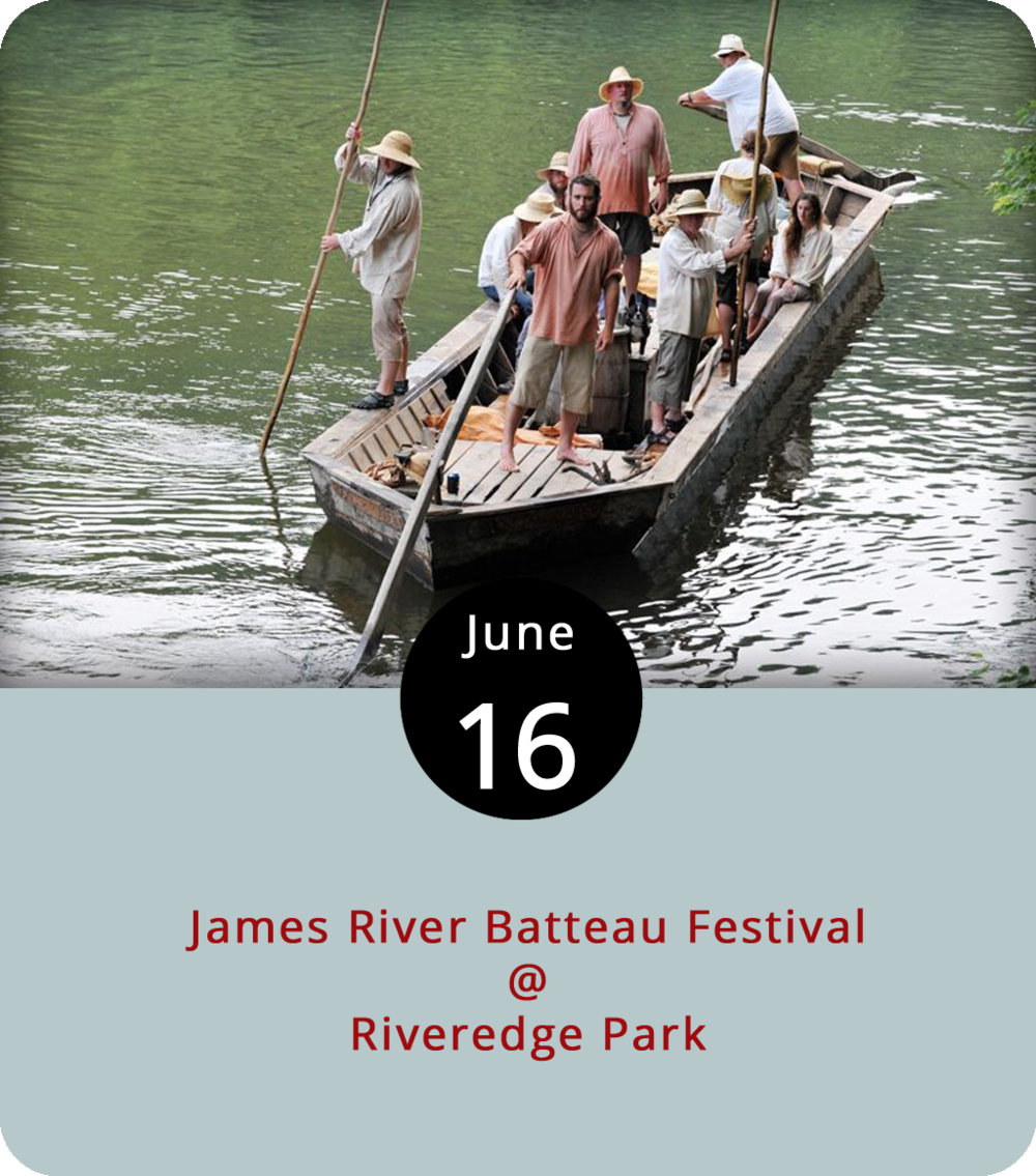 While the James River Batteau Festival faithful don their period-style attire and hop into wooden boats, members of the decidedly more forward thinking Vector Space are set to juxtapose some cutting edge tech. The high-schoolers have built the  BOTteau , an autonomous watercraft that can navigate the rocky James all the way to Richmond... or so they hope. They'll launch their innovative craft alongside about 20 decidedly retro  batteau , which are scaled down wood replicas of 19th-century river-borne freight carriers. The 33rd Batteau Festival departs from Percival's Island (1600 Concord Tpk.) at 11 a.m. There should be vendors of period goods and food trucks at the site for the sendoff. The eight-day  batteau  trip includes camping at several spots unavailable any other time of year, and plastic boaters are welcome to float along. Camping is $6 per night or $26 for the whole week. Click  here  for more info.