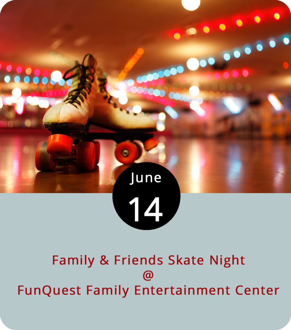 The first official day of summer is still a week away. But practically speaking, summer started the minute school let out, the temperatures started to rise, and the humidity started creeping in. To get summer break off to a good, clean start, the  UP Foundation , a nonprofit dedicated to addiction prevention and recovery, is holding a Family & Friends Skate Night at FunQuest Family Entertainment Center (327 Graves Mill Rd.) from 4 to 8 p.m. The event kicks off UP Foundation's Drug-Free Youth Summer Campaign. Admission is $5, which includes skate rentals. For more details, click  here . For more info, call (434) 381-0258.