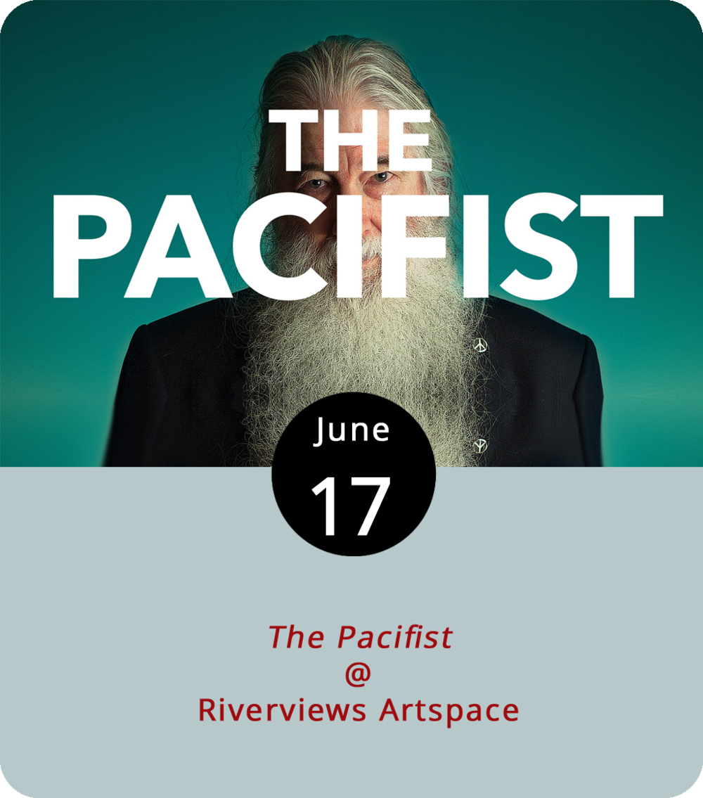 The last time Riverviews Artspace (901 Jefferson St.) planned to show  The Pacifist  (2016), a tornado knocked down trees, knocked out power, and knocked the screening back by a few weeks. Let's hope for more peaceful weather this evening as Riverviews gives it another try. Larry Bassett, the subject of the documentary, may not be a household name, but he is semi-famous and just a little bit notorious in these parts, particularly with the IRS. As the story goes, he refused to pay taxes because he did not appreciate his money going to support war efforts. The film about his experiences was shot inside the very Riverviews building where it's set to screen, with an introduction by producer and director Alex Short. Short and Bassett will also take questions after the screenings, which start at 1:30 and 3 p.m. Click  here  or call (434) 847-7277 for more info.