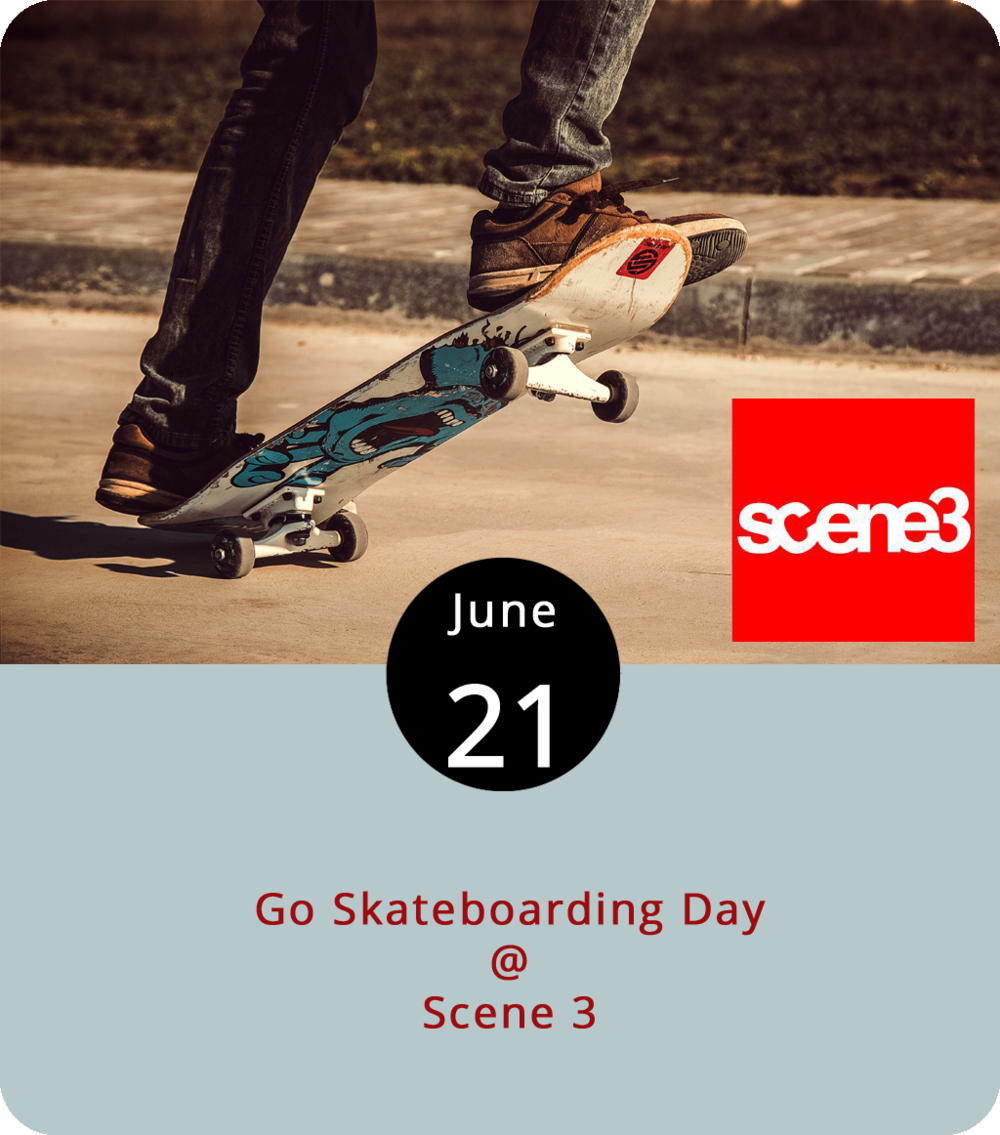 "Believe it or not, there's one day a year set aside just for skateboarding. While the ""holiday"" hasn't quite yet made it to federal day-off-work status, Scene 3 (1107 Main St.) is getting the local skate community together for a group skate from 6-9 p.m. this evening. Scene 3 will be grilling hot dogs at the shop, after which a downtown group skate will commence. They'll end at Rotary Centennial Riverfront Skatepark. For more info, click  here  or call (434) 385-4431."