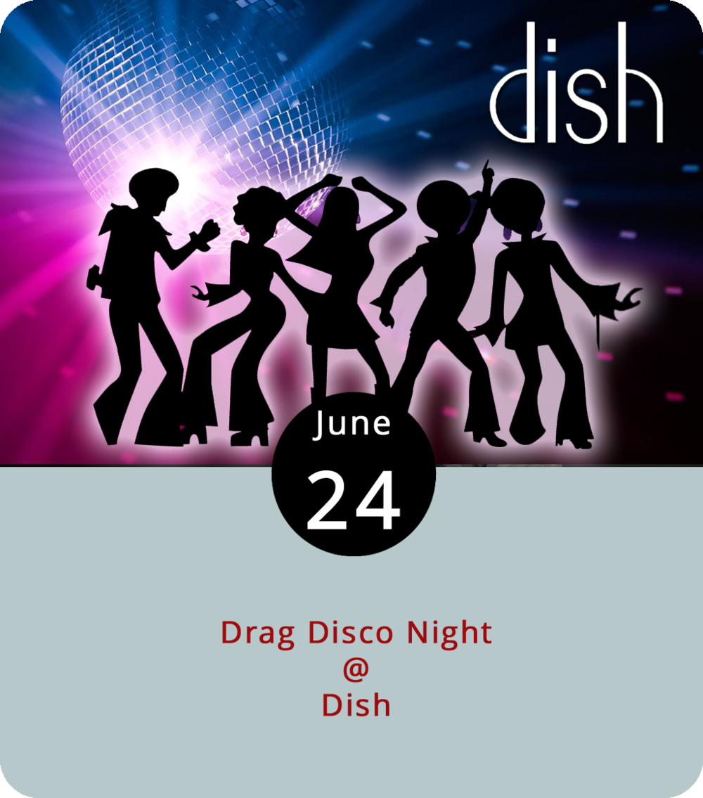 "Each June the LGBTQ+ community hosts parades, parties, and memorials to mark Pride Month. Although the Hill City doesn't yet have an annual Pride Parade, we do have Drag Disco. Tonight at Dish (1120 Main St.) the ""Cool for the Summer"" drag disco event features the performers Amazon Rome, Holly Whatt, Dreama Belle, Karma Skyy Dville, and Jack Valentine. The show starts at 8 p.m. and is a benefit for the Lynchburg Diversity Center, a non-profit community center for the LGBTQ+ community. Admission is $8 at the door. For more info about the event, click  here  or call (434) 528-0070."