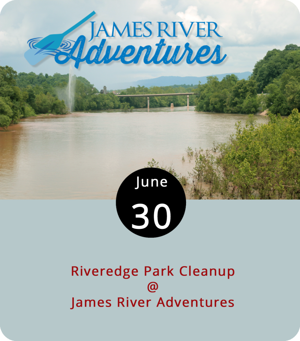 It's been said that Lynchburg rose with its back to the James, but in recent years there's a resurgence of appreciation for the recreational and economic benefits of the waterway. To keep the downtown fixture healthy, we all need to pitch in from time to time. From 9 a.m. to noon this morning, the James River Association is partnering with the Water Dog and Schlafly Beer to get out volunteers to tidy up the downtown stretch. Cleanup starts at Riveredge Park (150 Rocky Hill Rd.), where the River Association's canoe and kayak outfitter, James River Adventures. Volunteers can sign up to clean up around the river's edge or borrow a canoe or kayak to investigate a little further. Volunteers are also welcome to bring their own boats. Afterward, there's a meet up at the Water Dog (1016 Jefferson St.) with free beer for those who pitched in. To sign up, click  here . For more info, click  here  or contact Rob Campbell at  rcampbrcampbell@jrava.org . Check out the James River Adventures  website  for info on rentals.