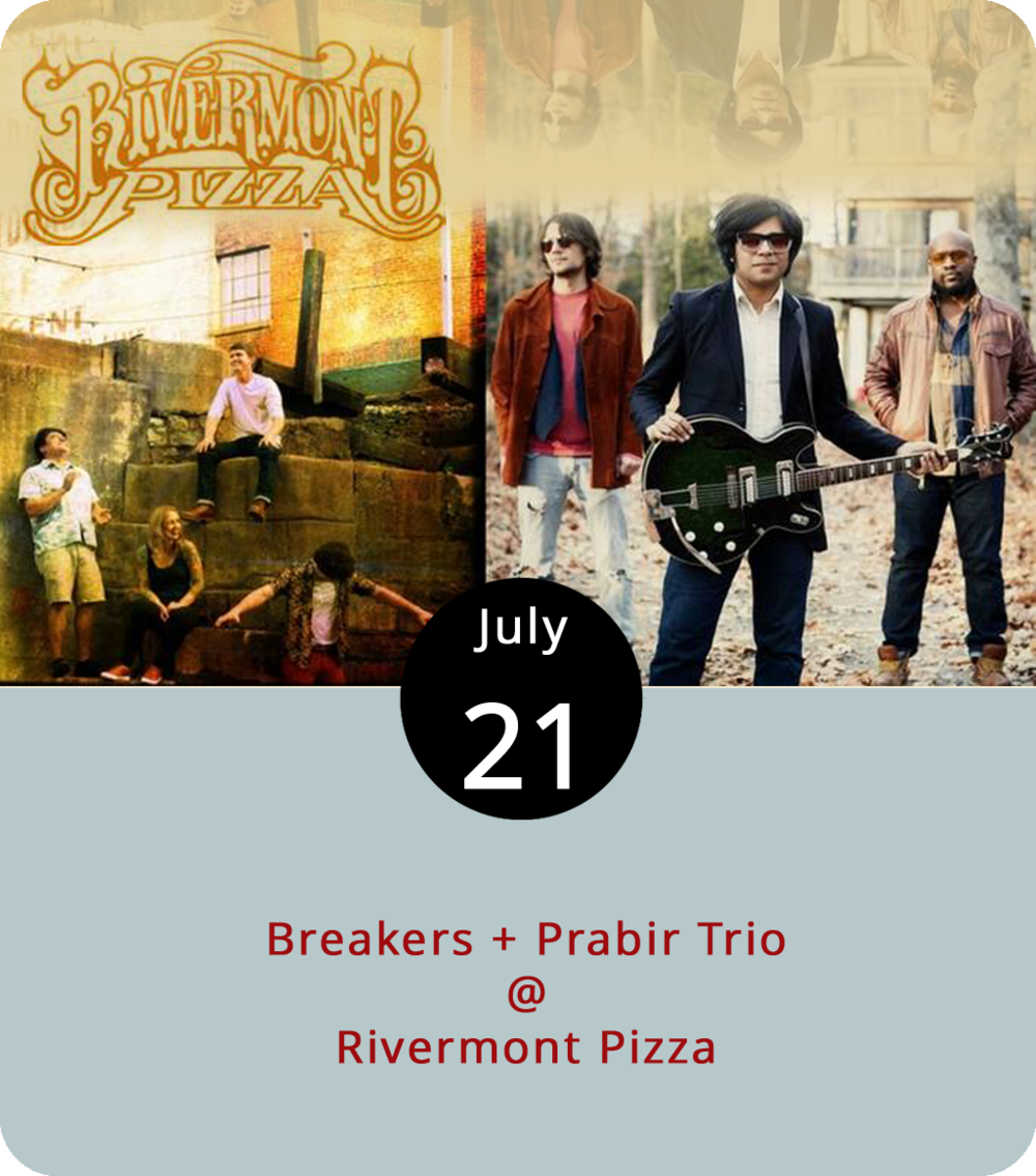 """The  Breakers album """"In Search of an Exit"""" could easily refer to the route from Boonsboro Rd. onto Rivermont Ave., which then becomes Church St. before merging onto the freeway and circling back around again. But the band are from Charlottesville, so maybe they've got Jean Paul Sartre in mind instead. The proto-punk, alt-rock group will likely be exiting off of 29 this evening in order to perform at Rivermont Pizza (2496 Rivermont Ave.) with  Prabir Trio , a threesome out of Richmond. Prabir Trio plans to release its first studio recording, the EP  Small Town Blues , at the end of the month. Music at RP usually starts at 11 p.m., right as dinner service finishes up and the bar starts serving slices. The cover is $3. For more info, click  here or call (434) 846-2877."""