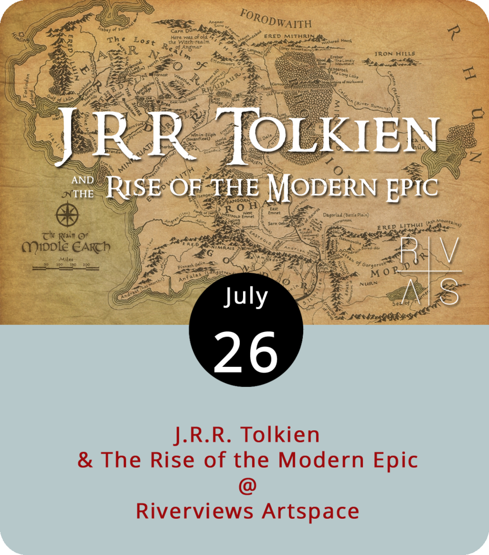"""Before  Game of Thrones , there was Tolkien and his  Lord of the Rings , a classic in the realm of obsession-able, multi-part fantasy thrillers. Like  Game of Thrones , it posits an alternate world outside of history that nevertheless serves as an allegory for our own times. Virginia Center for the Arts fellow Brian Culhane, who has a PhD in English literature from the University of Washington, comes to Lynchburg this evening to discuss Tolkien's literary triumph and, in his words, """"the rise of the modern epic."""" It takes place at Riverviews Artspace (901 Jefferson St.) from 7:30 until 9 p.m. For more info, click  here or call (434) 847-7277."""