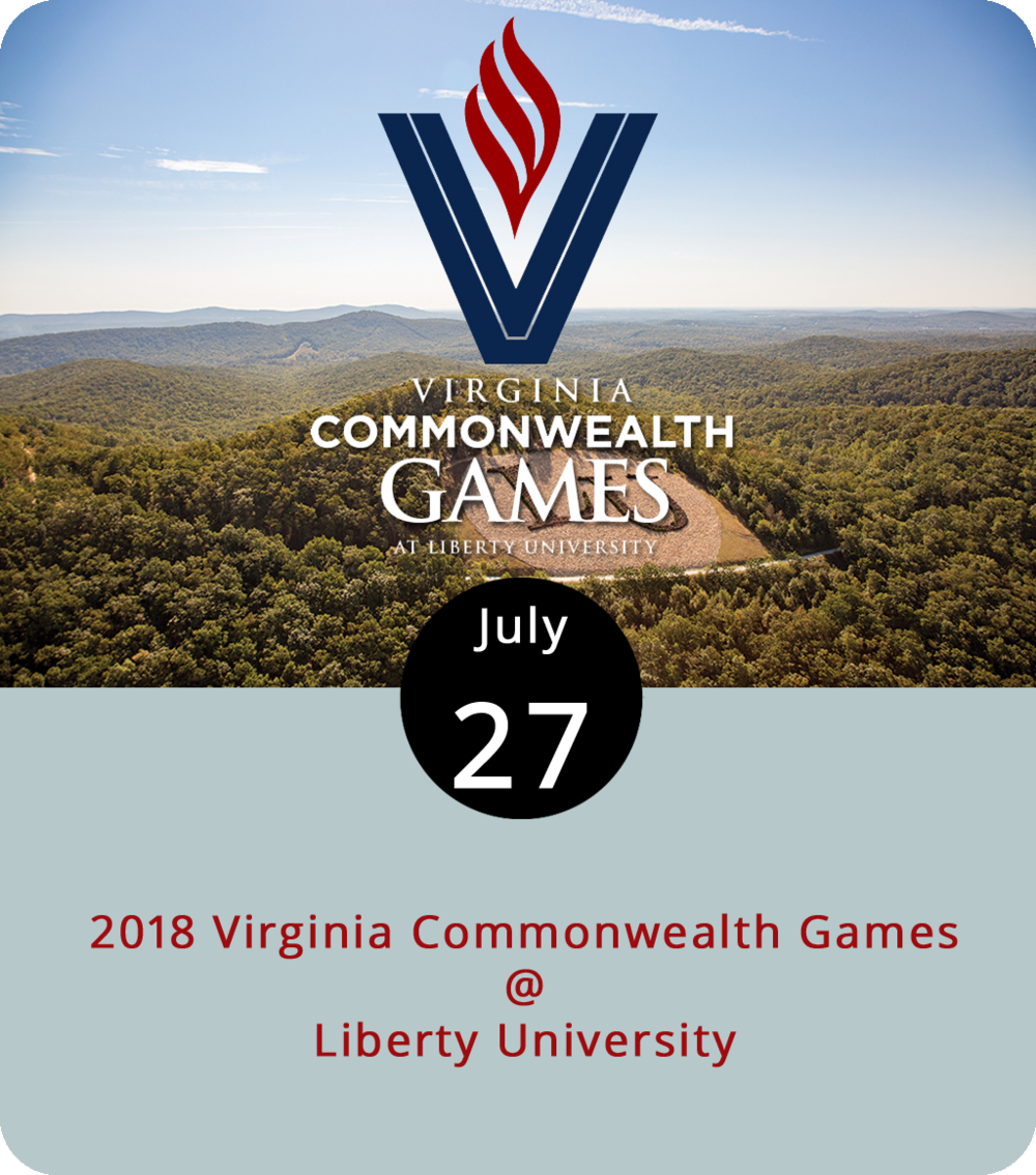 Whether your sport is bowling, billiards, or badminton, you're sure to find a game to play or watch this weekend as the Virginia Commonwealth Games arrive in town. Most of the action will be on the Liberty University campus, although there are events in over 40 different sports scheduled at fields and gymnasiums all over town for the next three days. The Commonwealth Games are a come-one-come-all kind of deal in which amateurs and novices compete in tournament-style play. The opening ceremony is tonight at Williams Stadium (1971 University Blvd.) at 7 p.m. Registration varies by sport. While many of the team sports require advanced registration, many others welcome walk-ons. Peruse the list of sports and the schedule  here . For more info, contact Virginia Amateur Sports at (540) 343-0987.