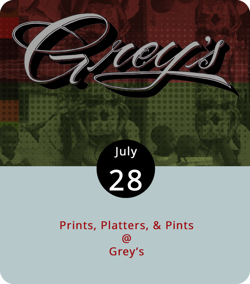 If you make the mistake of actually shopping until you drop today at Grey's (512 Fifth St.), they'll have plenty of refreshments to get you back on your feet, so you can dance into the evening. From 1-7 p.m., Grey's will hold a pickup market with screen printing, handmade wares, and vintage clothing. The event features DJs and live music, including Thomas Dean, Eddie Oysters, and Frosted Flakes, and a musical performance by  Gull , a masked multi-instrumentalist with a cult following here in town. Gull will also play at Grey's sister shop Rivermont Pizza (2496 Rivermont Ave.) tonight at 11 p.m. Champion Brewing Co. will provide libations through a tap takeover at Grey's. For more info, including a vendor list, click  here .