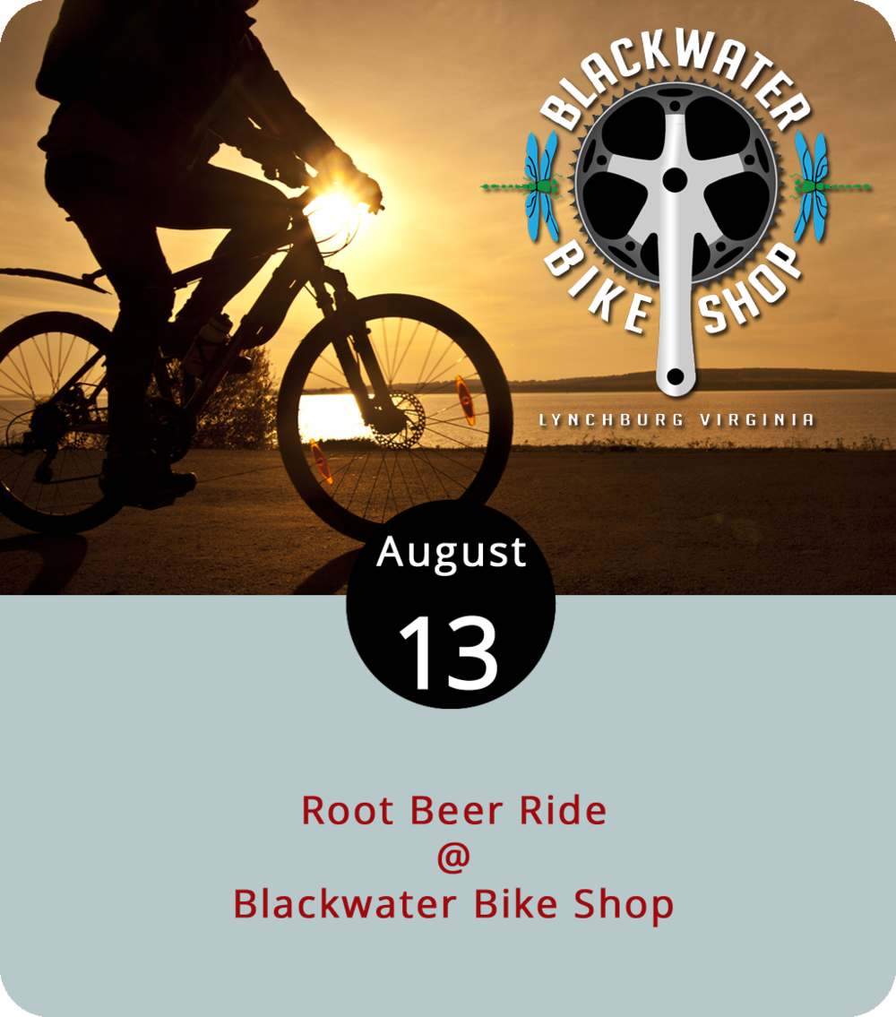 The local cycling community has a well-documented affinity for cruising for brews, usually of the lager and ale variety. But this evening, and every Monday through the end of the month, Blackwater Bike Shop (18869 Forest Rd.) hosts a ride with a softer brew as the reward. The 22-mile Root Beer Ride begins at the Blackwater's Forest shop at 6 p.m. There are also ten- and 16-mile routes for those who'd prefer a shorter route. All routes lead to Monkee Joe's (1190 Perrowville Rd.), where the root beer will be flowing. Check out the bike shop's ride map  page for more info about the route or click  here or call (434) 385-7047.