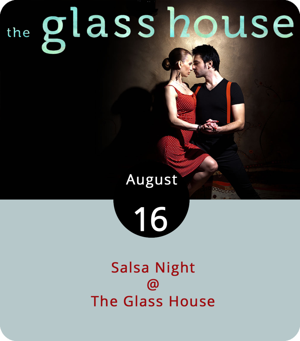 Hold the guacamole and forget the sriracha because it's Salsa Night at the Glass House (1019 Jefferson St.). Now that school's back in session, the folks at Lynchburg Salsa are gearing up to teach some dancing on a weekly basis. The evening begins with an hour-long salsa lesson at 8 p.m., followed by open dancing until 11 p.m. No partner is required to attend. Cover is $5 and cash only. For more information, click  here or email  lynchburgsalsa@gmail.com .