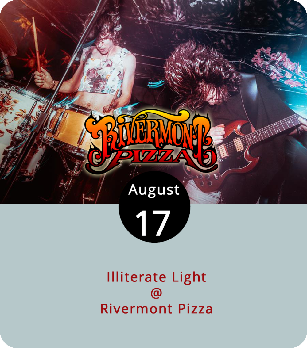 """Illiterate Light's debut album isn't out quite yet, but you can hear a preview of the grungy, guitar-driven, piano-laced single """"Better Than I Used To"""" on Bandcamp. The alt-rock duo of Jeff Gorman and Jake Cochran, who have toured the mid-Atlantic by bicycle and worked on an organic farm in the Shenandoah Valley, come to Rivermont Pizza (2496 Rivermont Ave.) tonight. Music starts around 10:30 p.m., just before the shop switches from dinner to late-night slices. The band is scheduled to play until 12:30 a.m. For more info, click  here or call (434) 846-2877."""