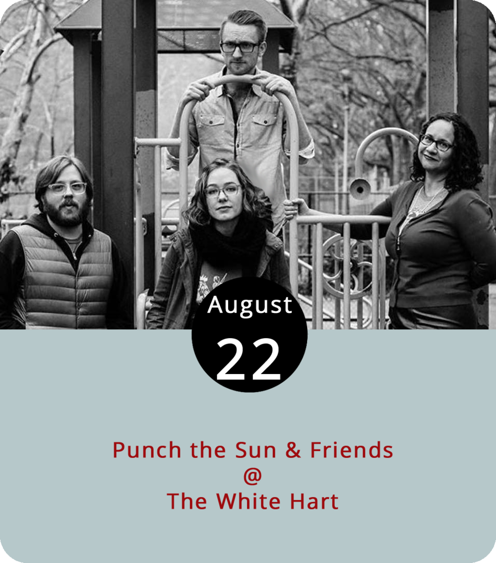 Fronted by singer-songwriter Shannon Söderlund, a bassist who grew up in Tacoma and made her way to the NYC borough of Queens to play music, Punch the Sun are an indie-rock foursome featuring Söderlund's husband on guitar, drummer Campbell Youngblood-Peterson, and backing vocalist Pamela Vachon. They're all making their way down to Lynchburg for a show this evening at the White Hart Café (1208 Main St) that'll include performances by Chelsey Coy of the intriguingly named band Single Girl, Married Girl, and the NYC-based singer-songwriters Leslie Barth and Chuck Ramsey. The music starts at 7 p.m. Call (434) 207-5600 or click  here for more info.