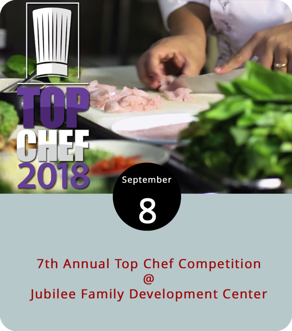 The Jubilee Family Development Center (1512 Florida Ave.) does all kinds of good community work, from education and nutrition programs for at-risk kids to adult GED classes and vocational training. However, this evening they'll be hosting a Food Network-style cooking competition featuring chefs from Jimmy's on the James, Centra Culinary Creations, Randolph College, and the University of Lynchburg. This is a fundraiser and a $125 ticket includes a taste of each chef's culinary creations, desert by Peakland Catering Company, an open bar, and a silent auction with emcees Danner Evans and Pattie Martin from WSET. The event starts at 7 and goes until 9 p.m. Click  here  for tickets or call (434) 845-0433 for further info.