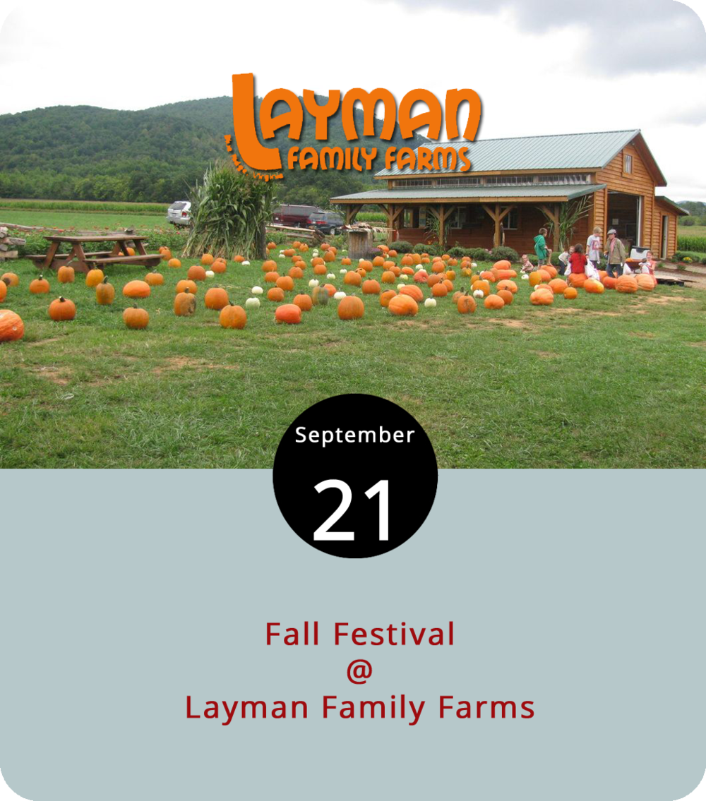 Fans of creepy '80s horror films may pause at the notion of kids in cornfields, but the annual Fall Festival at Layman Family Farms (1815 Mountain View Church Rd.) in Blue Ridge has made navigating a maze in the maize something of a seasonal tradition in these parts. Layman's cornfield labyrinth and pumpkin patch, which were set to open last weekend before Hurricane Florence intervened, are opening today at 4 p.m. The Fall Festival will remain in operation on Fridays (4-9 p.m.), Saturdays (10 a.m.-9 p.m.), and Sundays (11 a.m.-9 p.m.) through November 10. Admission is $12 for adults, $10 for seniors, and free for kids under two. It includes hayrides, an animated chicken show, a spooky storybook trail, and lots of other farm-related activities. Click  here  for more info or call (540) 947-2844.