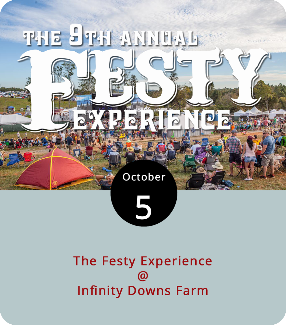 It's going to be a little bit rootsy and rather bluegrassy all weekend at Infinity Downs Farm (1500 Diggs Mountain Rd.) in Arrington, as the ninth annual Festy Experience brings nearly two dozen performers and lots of other outdoor activities to the 387-acre property that's also the annual home of the Lock'n festival. On the bill today, starting at 12:30 p.m., they've got Tara Mills & Jimmy Stelling, Hackensaw Boys, the Lil Smokes, Sons of Bill, Fruition, and Greensky Bluegrass. Tomorrow they've got the Sam Bush Band, Gillian Welch, and a whole lot more. And Sunday's big names include Ricky Skaggs and Railroad Earth. For a complete line-up, click  here . Gates for the Festy, which includes craft beer vendors, food trucks, family activities, camping, and (we love this word) glamping open at noon today and tickets are $56 per day or $166 for a three-day pass. Click  here  for tickets and more info.