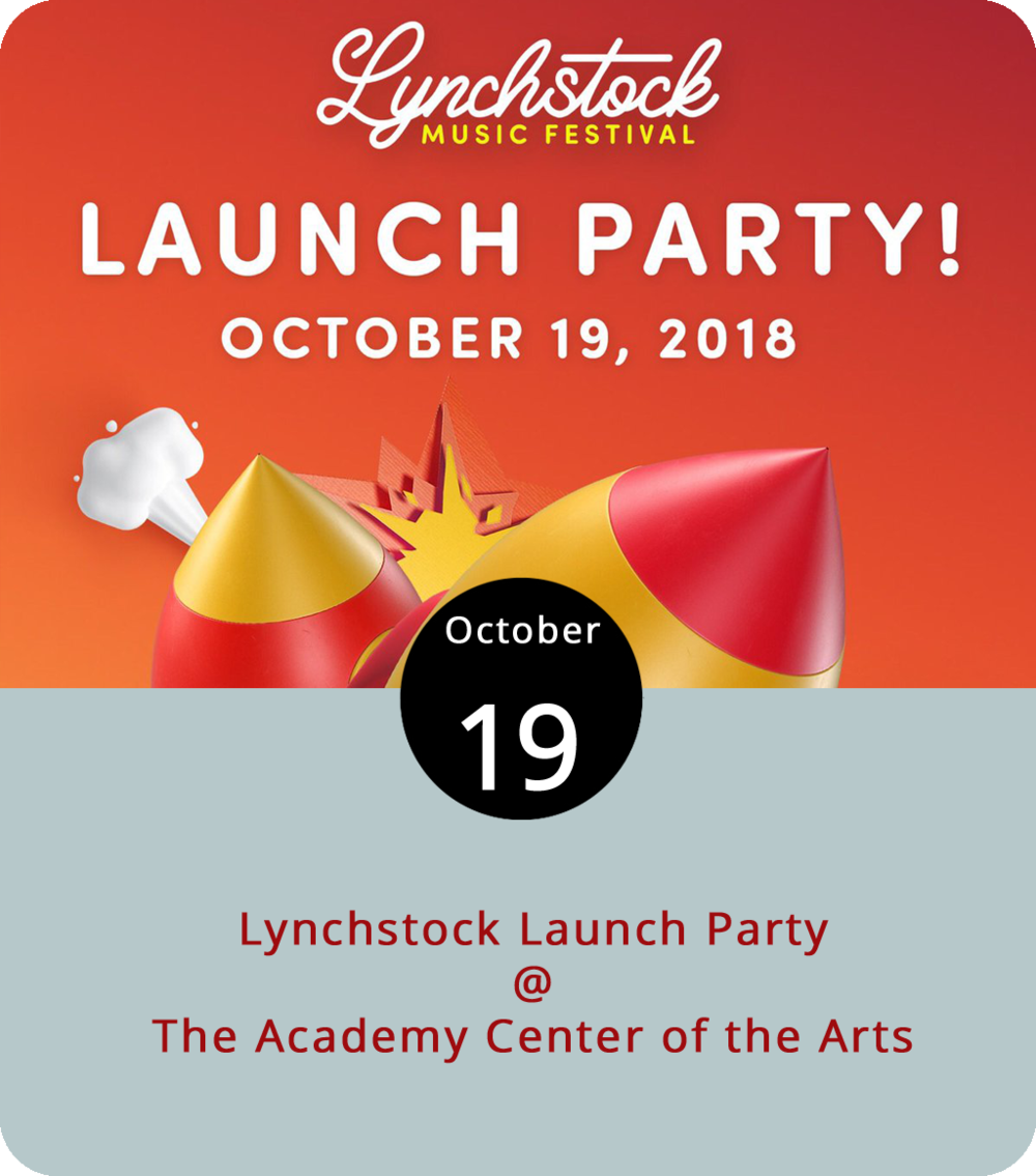It's Lynchstock weekend, which means there's a big rock show happening tomorrow at Riverfront Park. To celebrate the impending occasion, there a somewhat smaller free show happening this evening at the Academy Center of the Arts in the Joy & Lynch Christian Warehouse Theatre (519 Commerce St.). Think of it as an opportunity to pick up tickets for tomorrow's event while enjoying some live music by the energetic local cover band the Dundies and some funkier fare from Apple Butter Soul. It's the last chance you'll have to purchase Lynchstock tickets at their pre-sale price of $25. The event runs from 7 until 10 p.m. Click  here  for more info, or call (434) 846-8499.