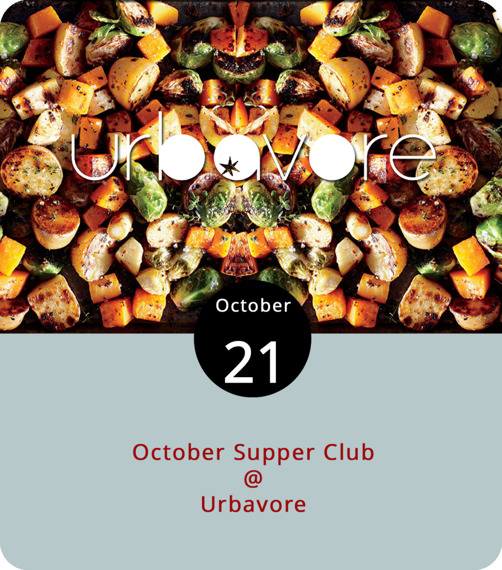 If you're reading this, it may already be too late to reserve a seat at the table for the vegan feast this evening at Urbavore (1103 Church St.). Then again, you may be able to squeeze in a last-minute reservation for the 6 p.m. October Supper Club dinner, which will feature roasted fall vegetables, a special cocktail, and chocolate cake for dessert. If not, no worries; it's never too late to try one of Urbavore's patented Boom Burgers, which they're now selling at the Lynchburg Community Market on Saturdays. Their Breakfast of Champignons, a tofu scramble with a biscuit and mushroom gravy, is also quite good, and on the menu from 10 a.m. until 2 p.m. Tuesdays through Fridays, until 8 p.m. on Saturdays, and until 4 p.m. on Sundays. For more info and the complete Urbavore menus, click  here , or call (434) 851-2727.