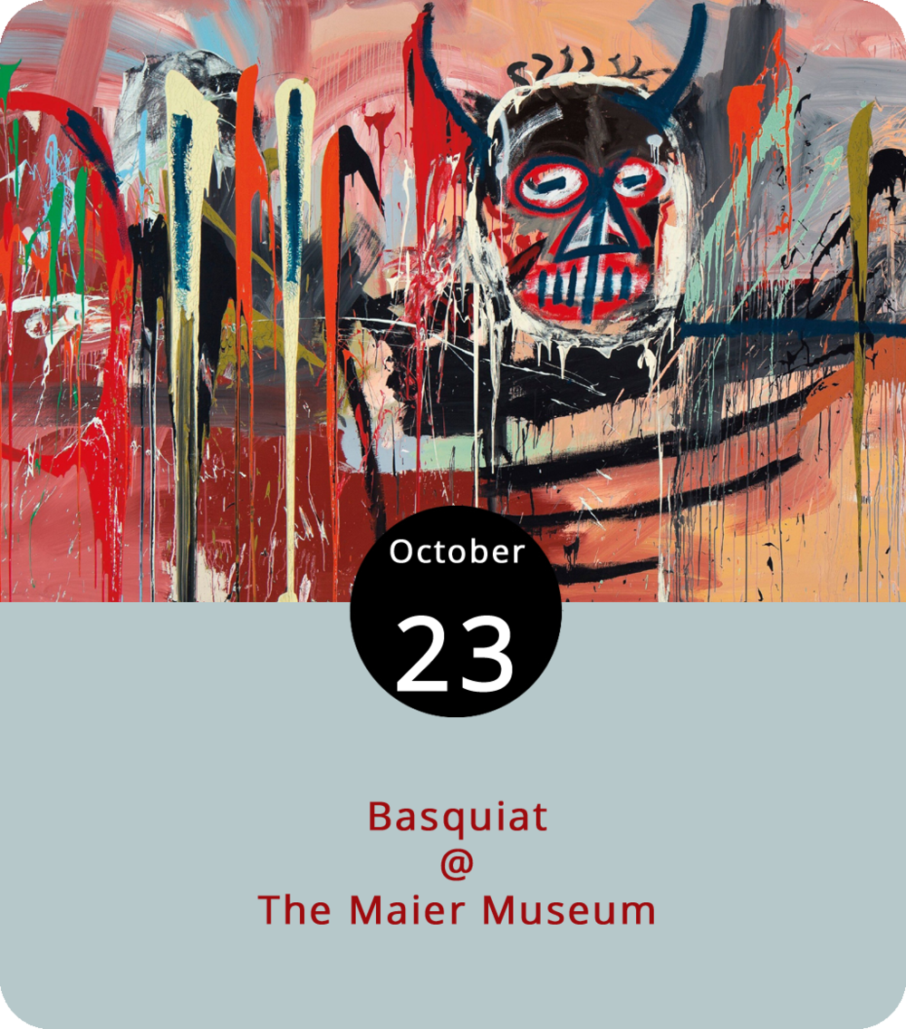 """It took an artist to do justice to an artist's life, and a painter to capture the painterly details of Jean-Michel Basquiat's rise and fall. In 1996, which was eight years after Basquiat died at the age of 27, artist Julian Schnabel made his directorial debut with  Basquiat , a biopic starring Jeffrey Wright as Jean-Michel, David Bowie as Andy Warhol, and Gary Oldham as some guy named Julian Schnabel. The film screens for free this evening at 7 p.m. as part of a film series tie-in with the exhibit """"Zeitgeist: The Art Scene of Teenage Basquiat"""" at Randolph College's Maier Museum of Art (1 Quinlan St.) at Randolph College. For more info, click  here  or call (434) 947-8136."""