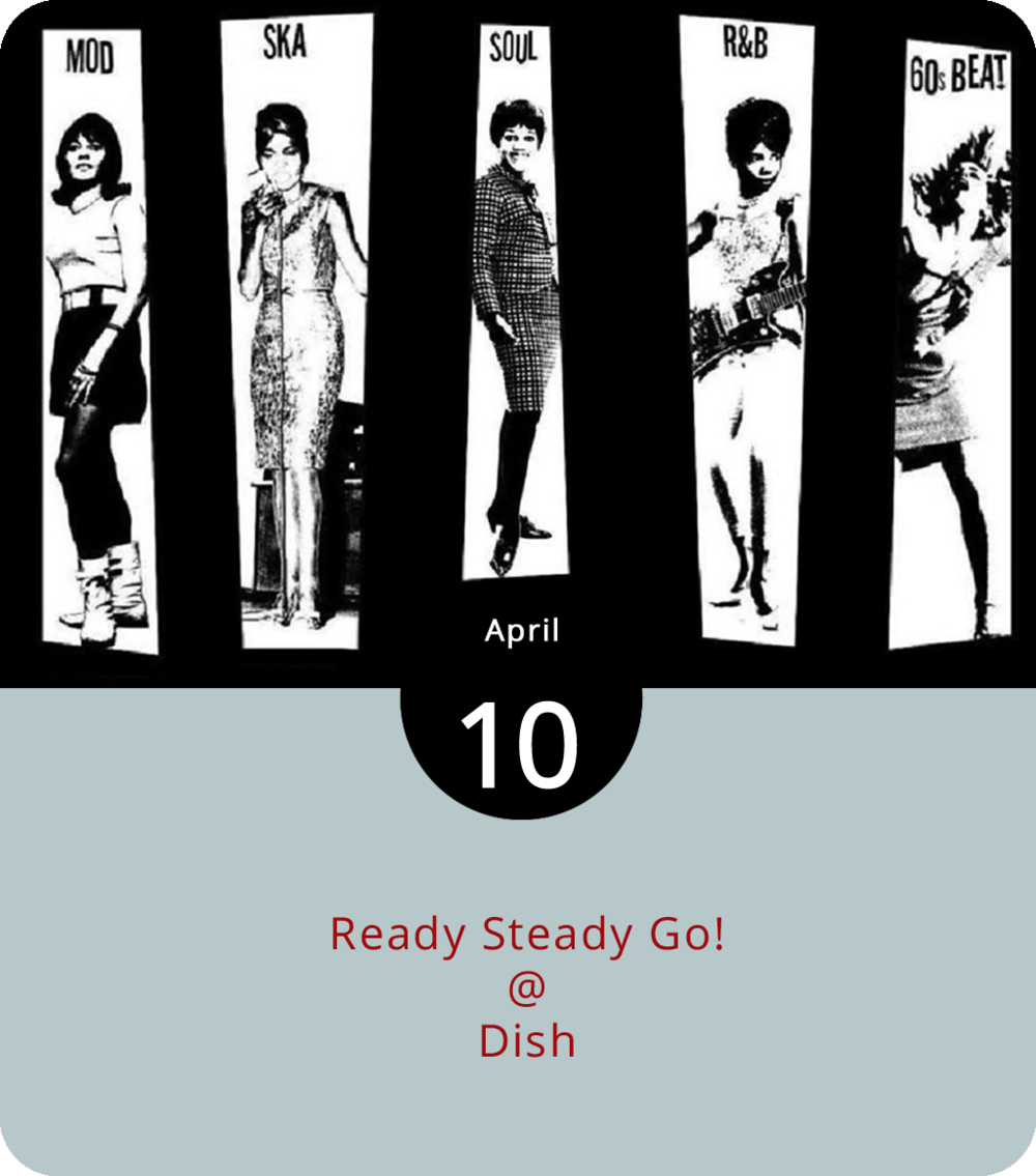 "From August 1963 until December 1966,  Ready Steady Go!  brought what was then the new sounds of an emerging musical invasion into homes of hundreds of thousands of British families. Those sounds were made by the likes of the Beatles, the Kinks, the Who, the Hollies, the Merseybeats, and the Stones, and some of their American peers (the Supremes, the Temptations, Marvin Gaye, Jimi Hendrix, etc…). Not a bad starting point for a playlist. That would seem to be the idea behind Lynchburg's version of ""Ready Steady Go!,"" which takes over Dish (1120 Main St.) this evening from 9:30 p.m. until 1 a.m. DJs PatricktheMod and VespaGalBridget will spin a mix of mod Brit-pop, bluebeat ska, '60s soul, garage rock, and early R&B. There's no cover, free scooter parking, and gifts for those attired in mod-wear and/or black-and-white checks. Click  here  for info or call (434) 528-0070."