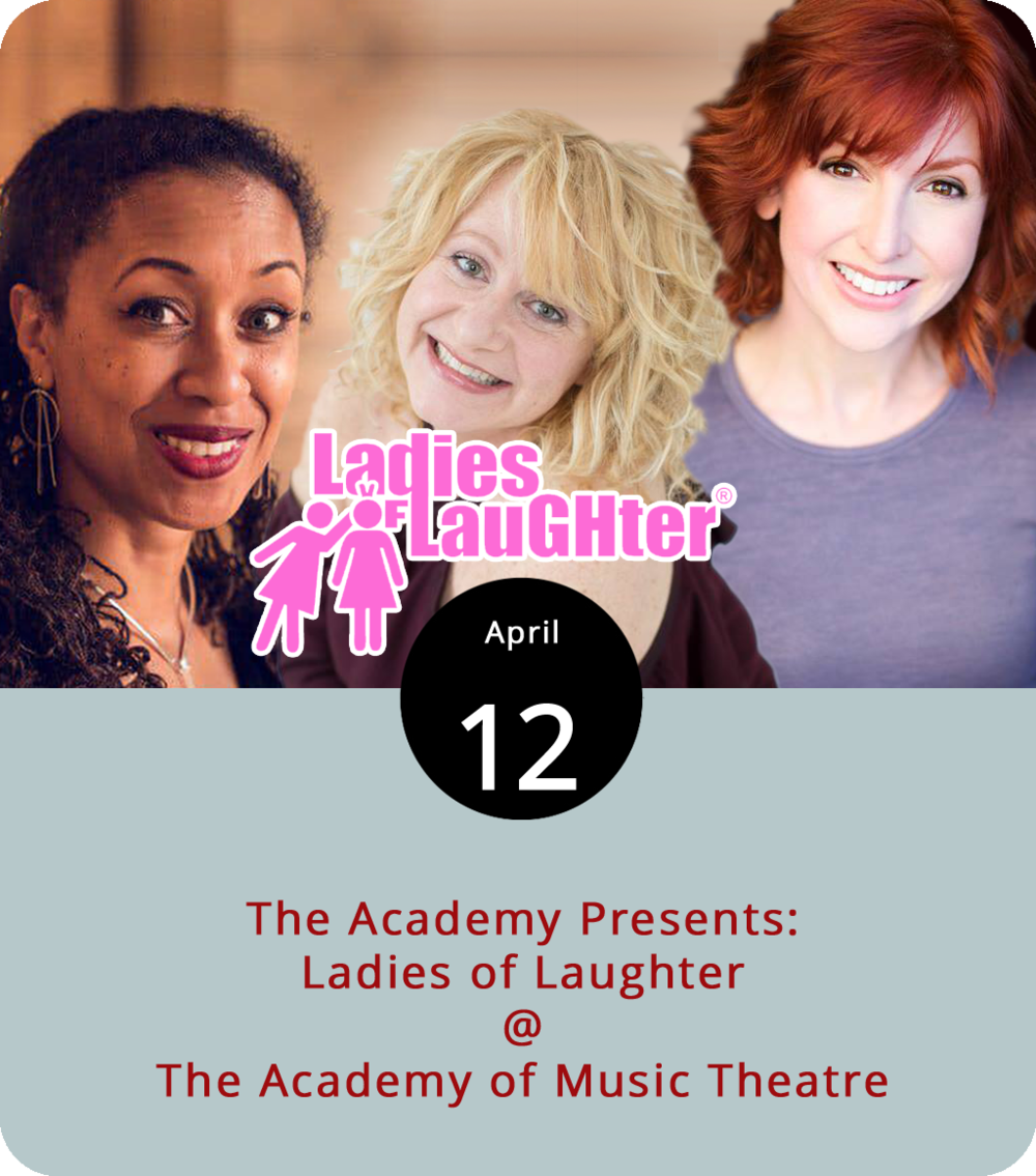 It's an  lol  kinda night at the Academy Center of the Arts, as in Ladies of Laughter. The Ladies of Laughter organization has been around for two decades, promoting women comedians, bestowing awards on some of the best up-and-coming female comedic talents, and organizing comedy tours like the one that comes to the stage at the Academy of Music Theatre (600 Main St.) this evening. Leighann Lord, Missy Grynkiewicz, and Erin Maguire are the three featured performers. The jokes start at 7:30 p.m. Tickets run from $20 to $51. Click  here  for tickets and info, or call (434) 846-8499.