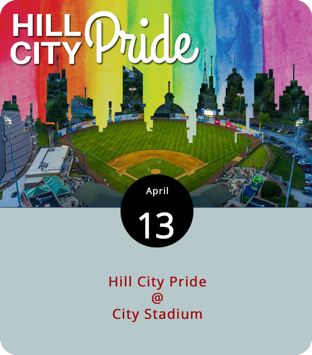 It's official: Lynchburg is having its own Pride Day. Hill City Pride will convene at City Stadium (3176 Fort Ave.) at noon today and will feature entertainment by Delighted Tobehere (not her real name), Flat Five Jazz, Rose Wood (probably not her real name), Chicki Parm (perhaps?), Savannah Rae Kelly, Amazon Rome, and Shelita Bonet Hoyle. There will be food and drink and a plethora of merriment, diversity, and good LGBTQ-plus vibes. The event runs until 5 p.m. Click  here  for more info or call Spectrum Arts Society at (434) 515-0295.