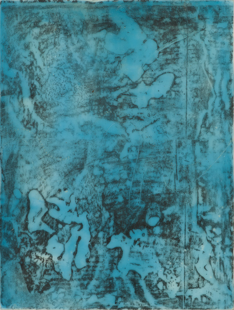 Glacier Chart 2. , 2016 graphite transfer on encaustic 10.5 x 7.5 inches