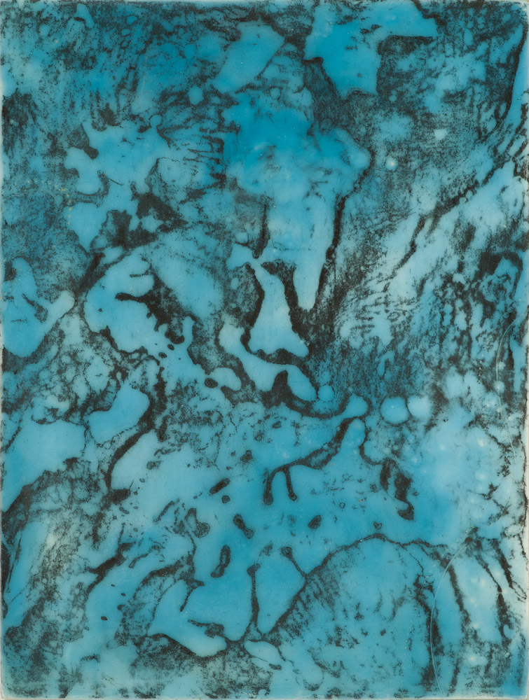Glacier Chart 4 ., 2016 graphite transfer on encaustic 10 x 7.5 inches   Inquire for price
