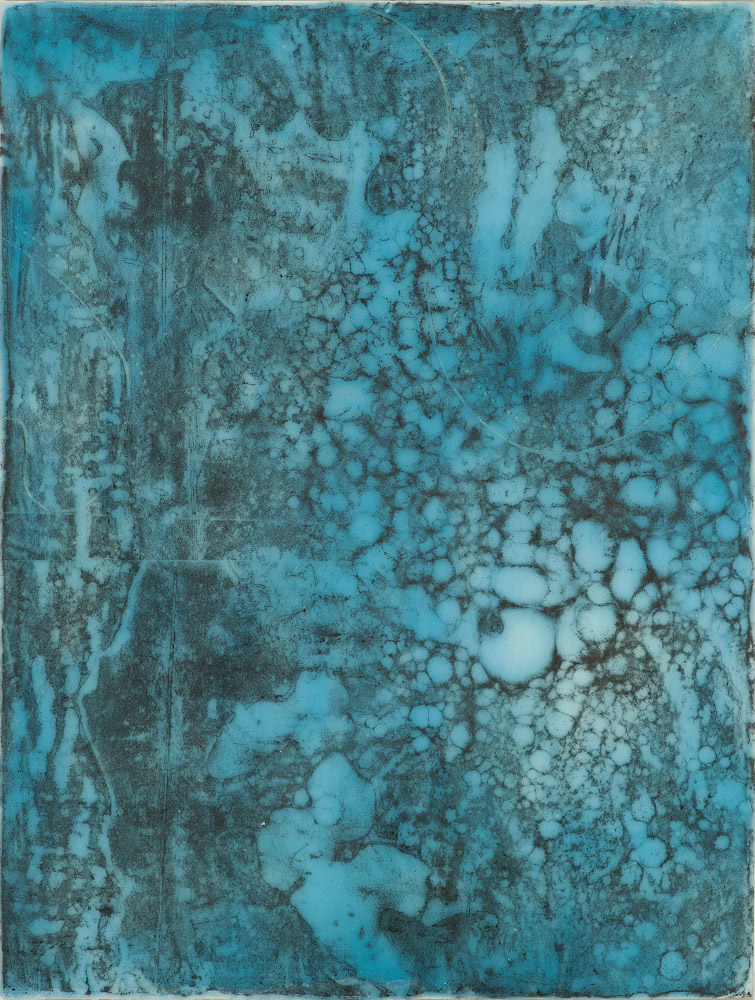 Glacier Chart 3 ., 2016 graphite transfer on encaustic 10.5 x 7.5