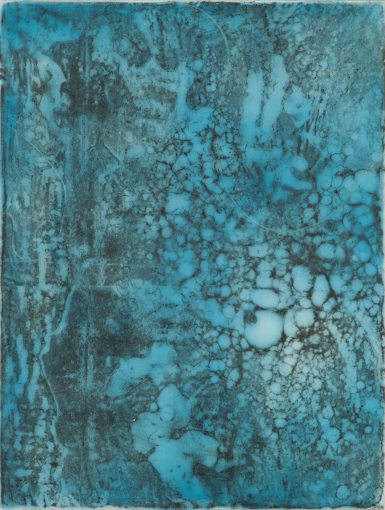 Glacier Chart 3 ., 2016 graphite transfer on encaustic 10 x 7.5