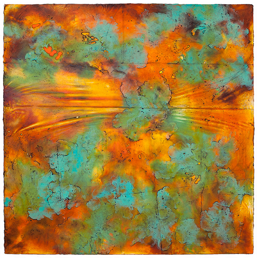 Wave Horizon I, 2016 encaustic and oil on panel   Private Collection, Houston