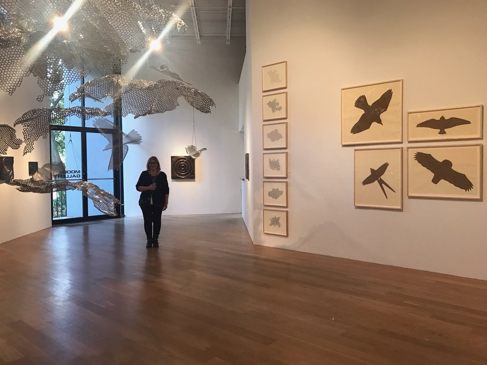 Gwen at Ed Wilson's  Soar , Moody Gallery.