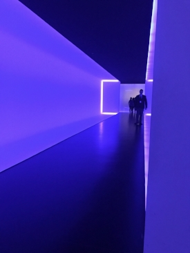 Tunnel, by light artist James Turrell connects MFAH's old and new buildings beneath Main Street.