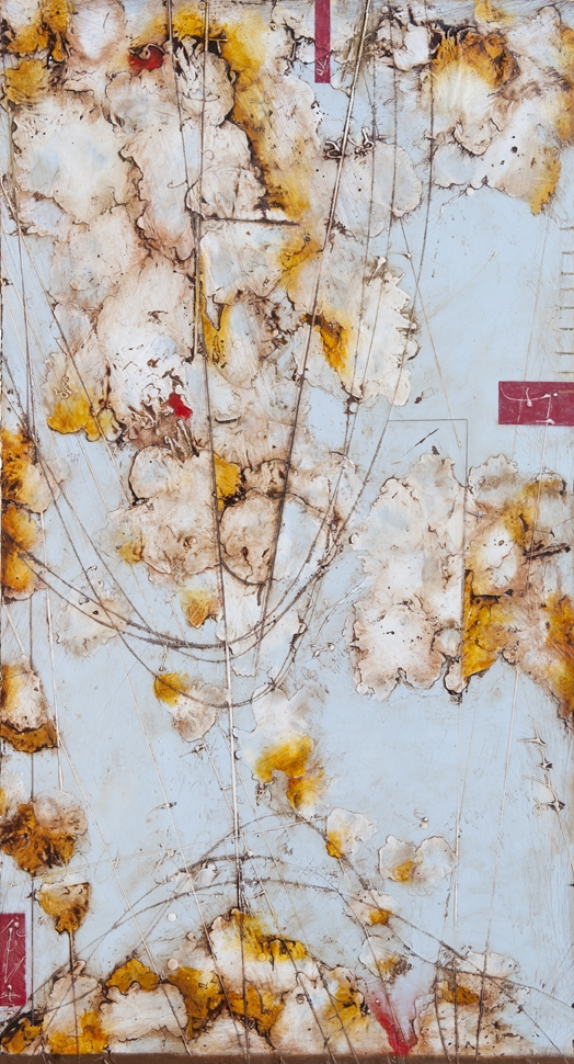 Remnant III, 2011  encaustic and oil on panel 48 x 24 inches. Available at  Gremillion & Co. Fine Art, Houston